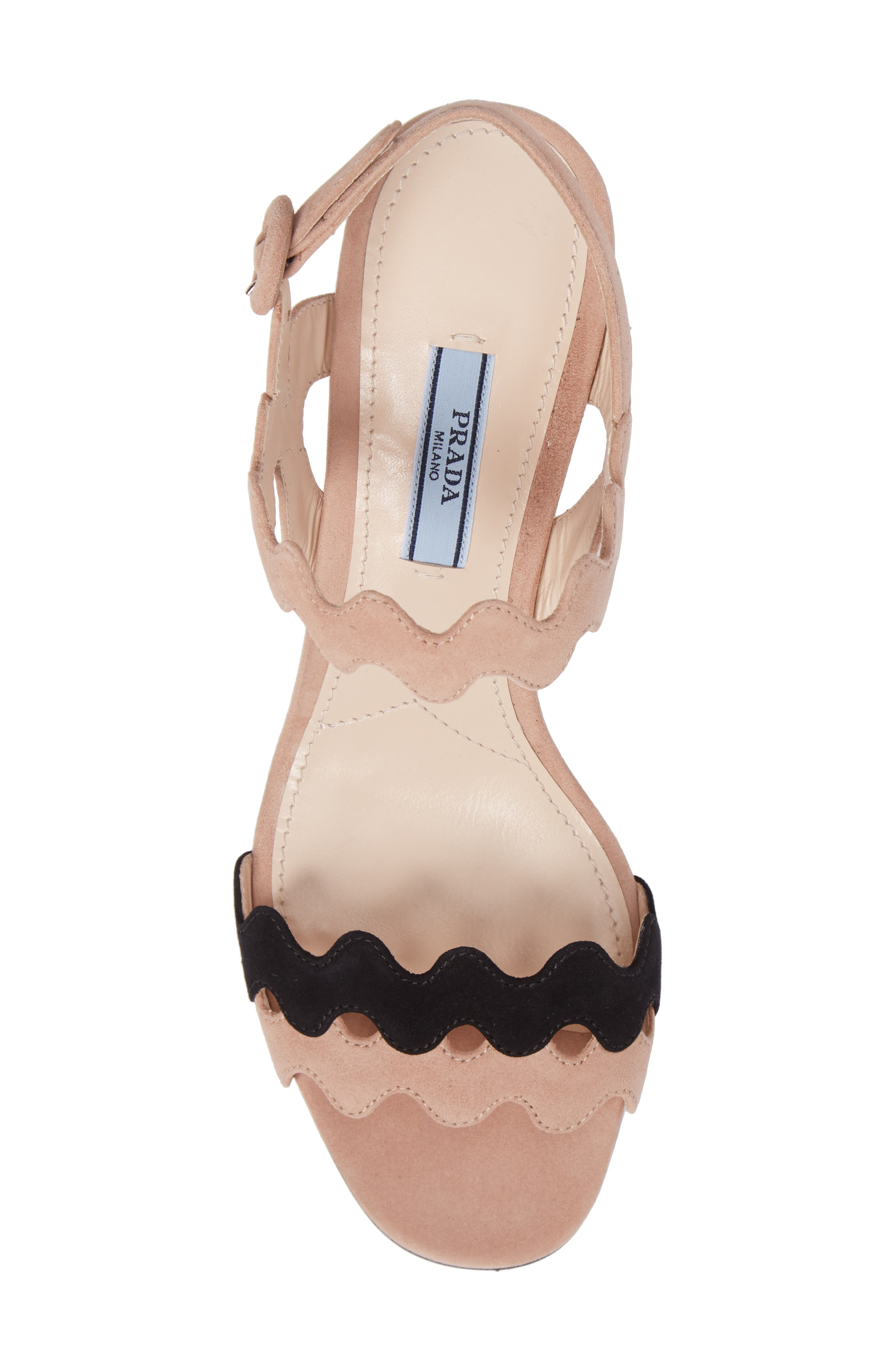 Double Strap Wave Sandal,                             Alternate thumbnail 5, color,                             Nude