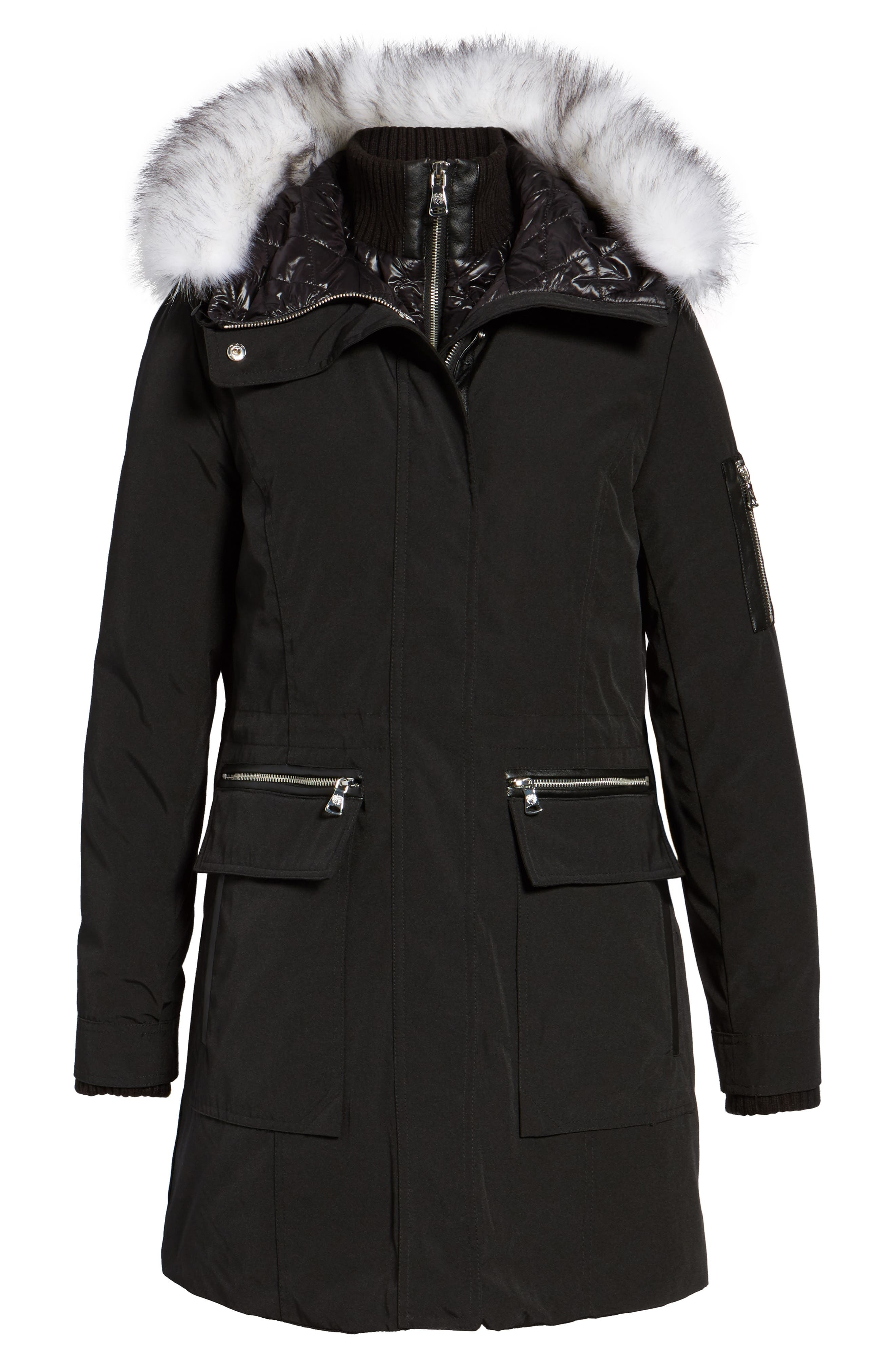 Alternate Image 6  - Vince Camuto Bib Insert Down & Feather Fill Coat