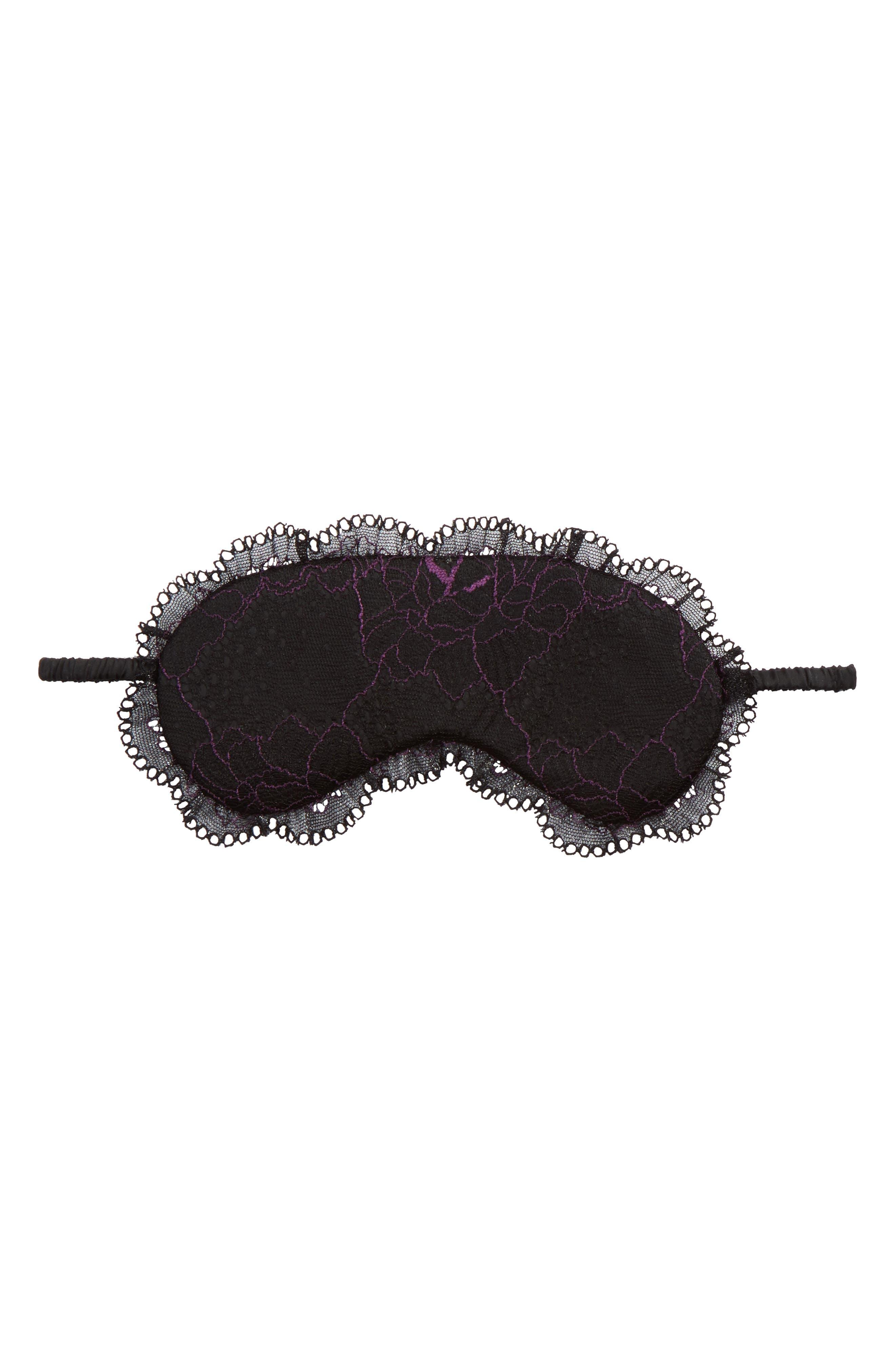 Flirty Sleep Mask,                         Main,                         color, Black/ Purple Dragon