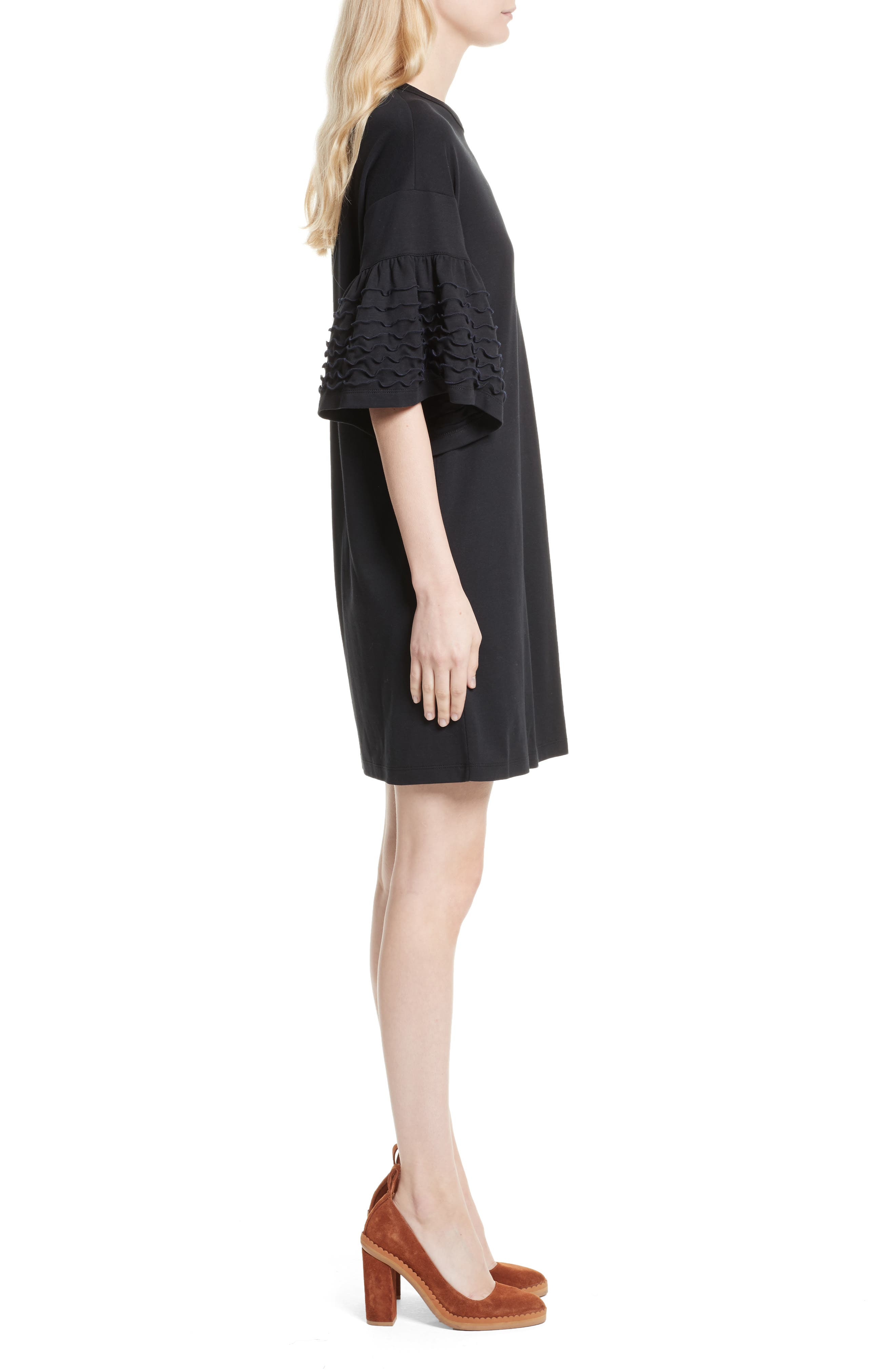 Alternate Image 3  - See by Chloé Ruffle Sleeve Cotton Shift Dress