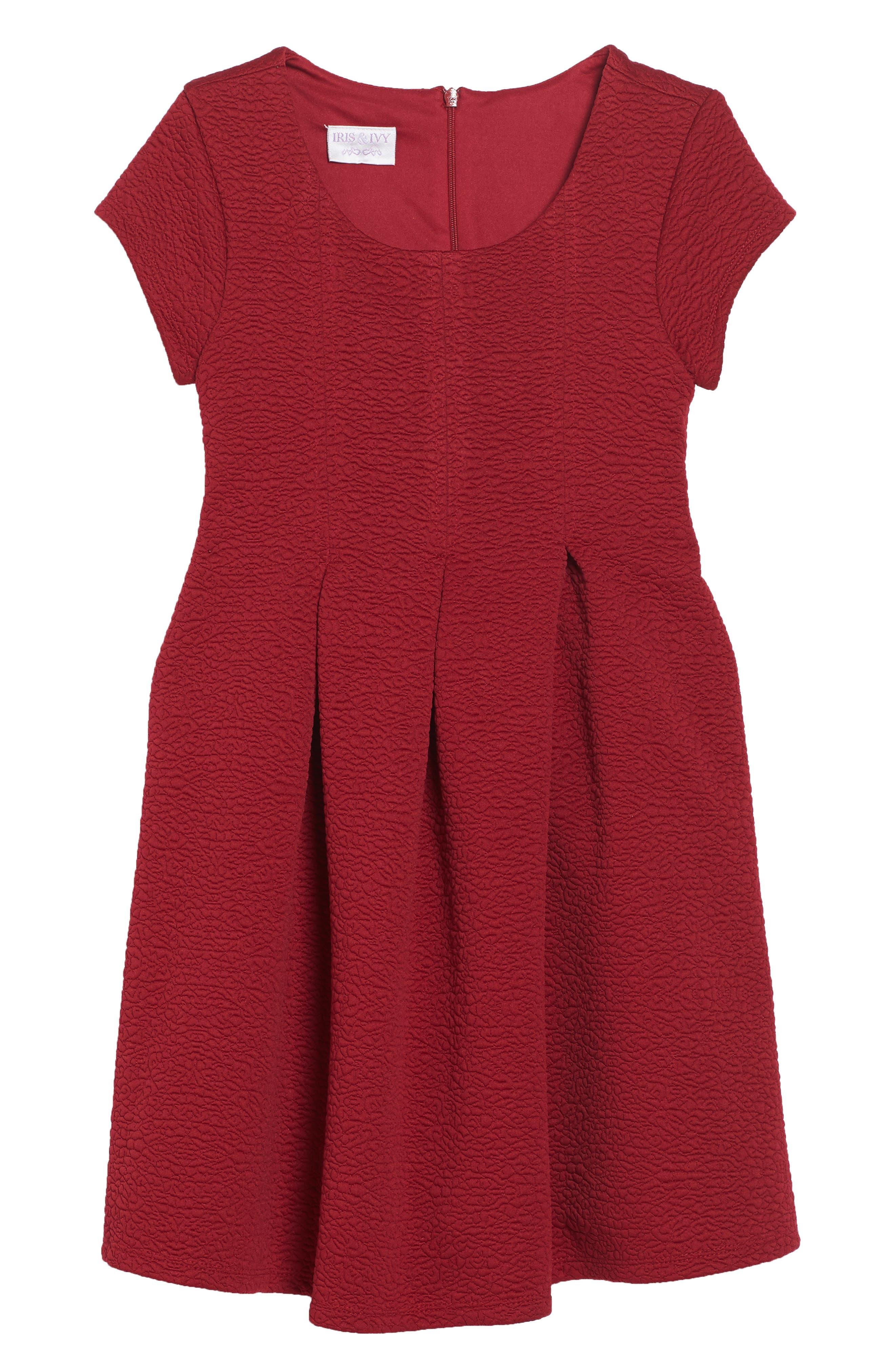 Main Image - Iris & Ivy Textured Knit Dress (Toddler Girls, Little Girls & Big Girls)