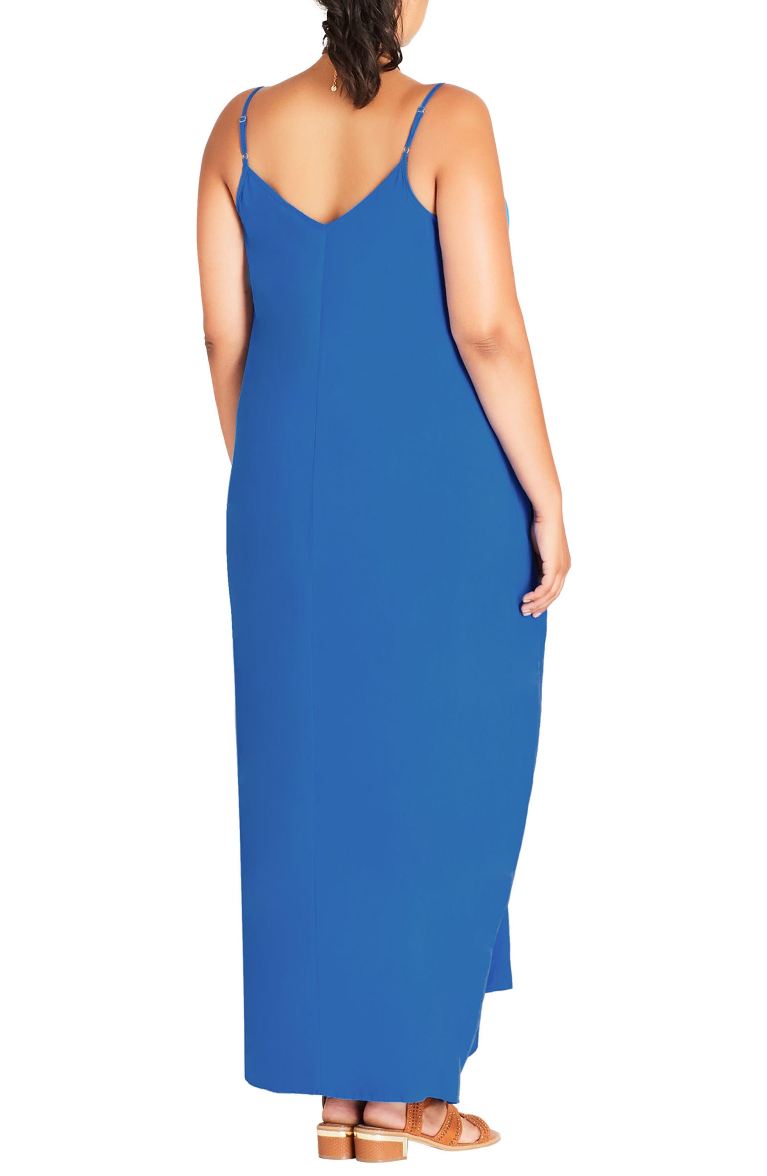 Alternate Image 2  - City Chic V-Neck Maxi Dress (Plus Size)