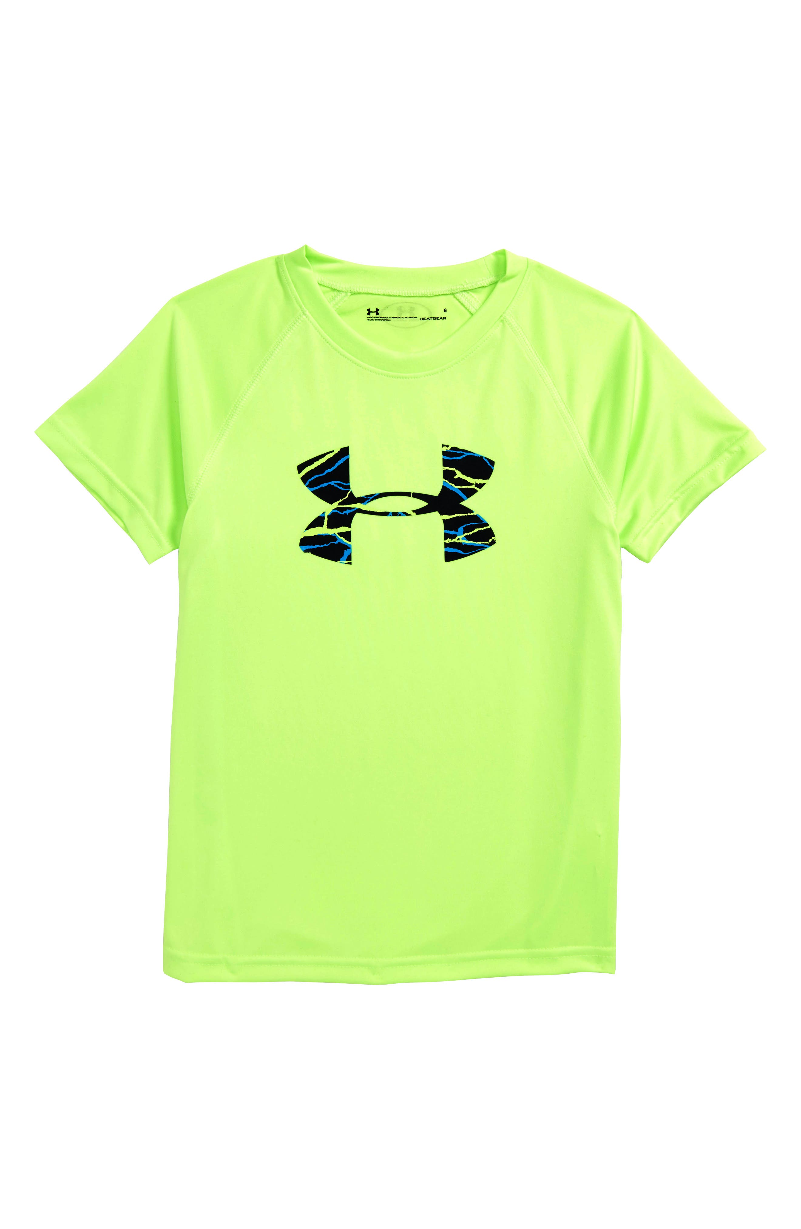 Voltage Graphic HeatGear<sup>®</sup> T-Shirt,                         Main,                         color, Quirky Lime