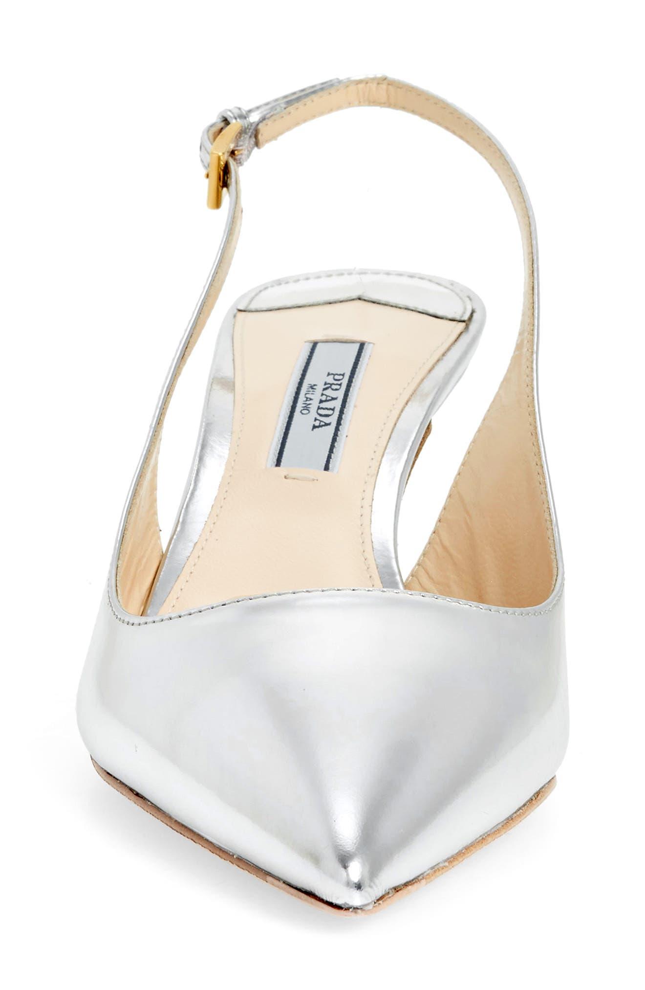Alternate Image 4  - Prada Pointy Toe Slingback Sandal (Women)
