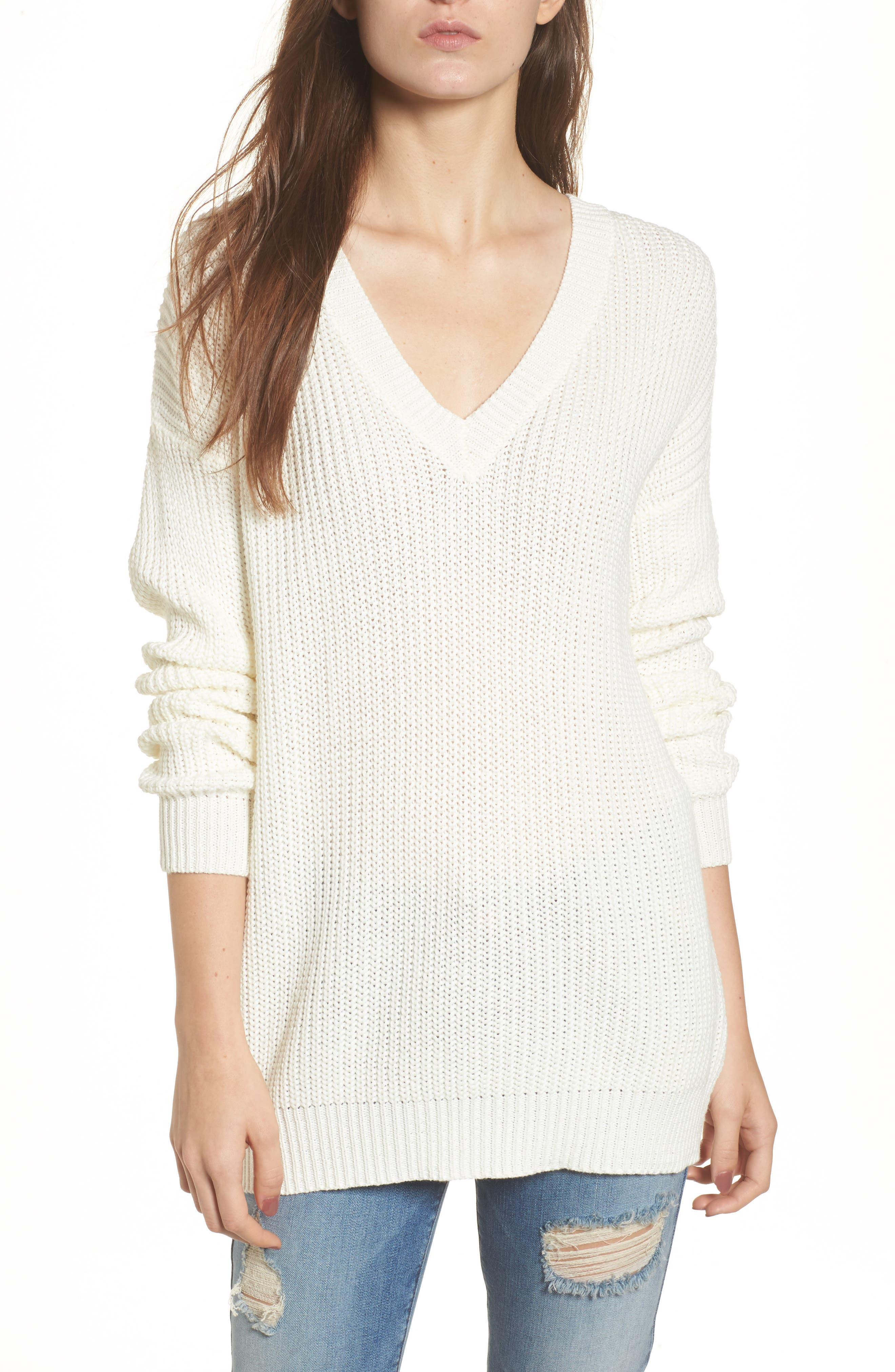 Love by Design Lace-Up Back Pullover
