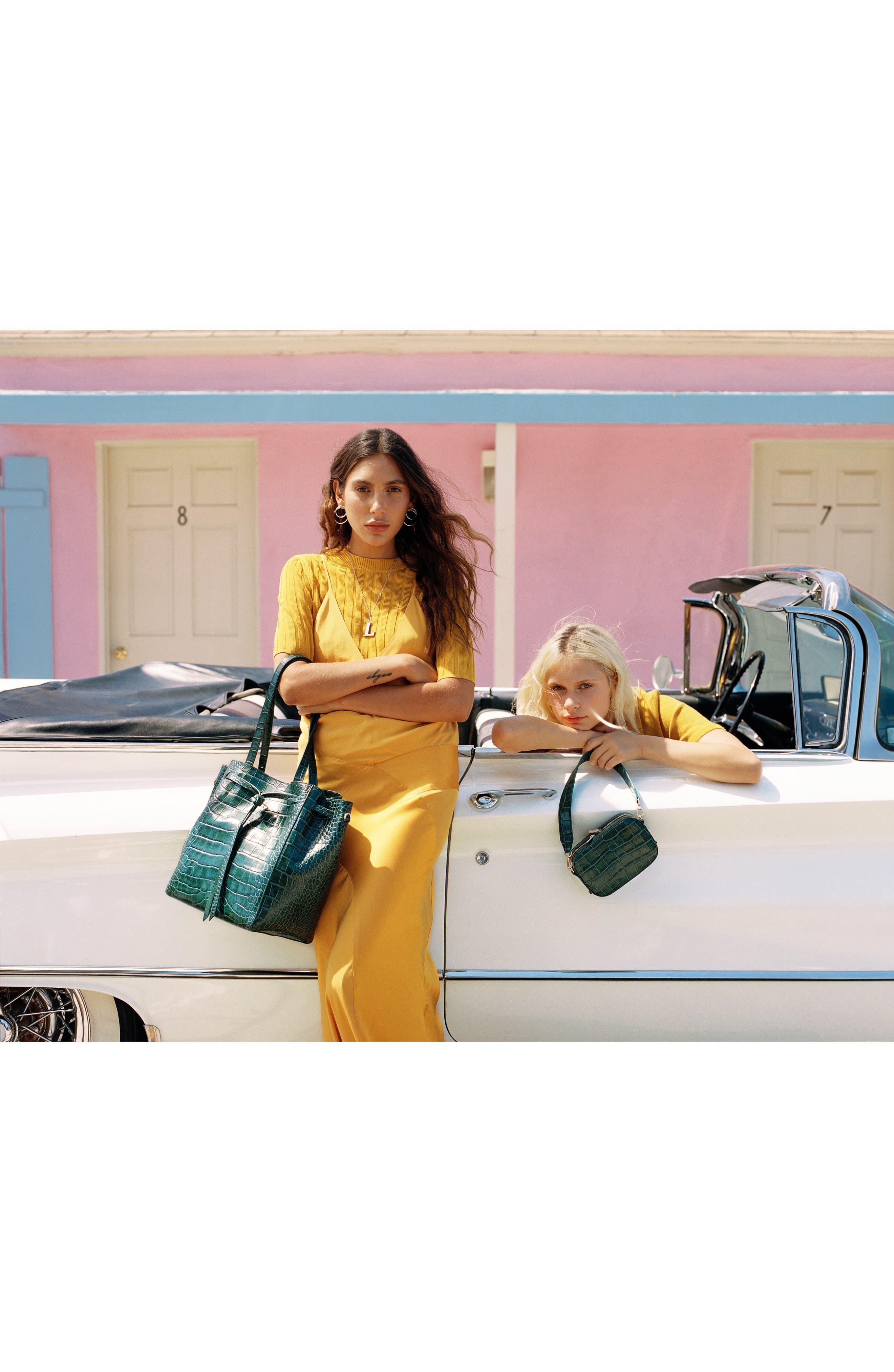 Alternate Image 7  - Pop & Suki Croc Embossed Camera Bag (Nordstrom Exclusive)