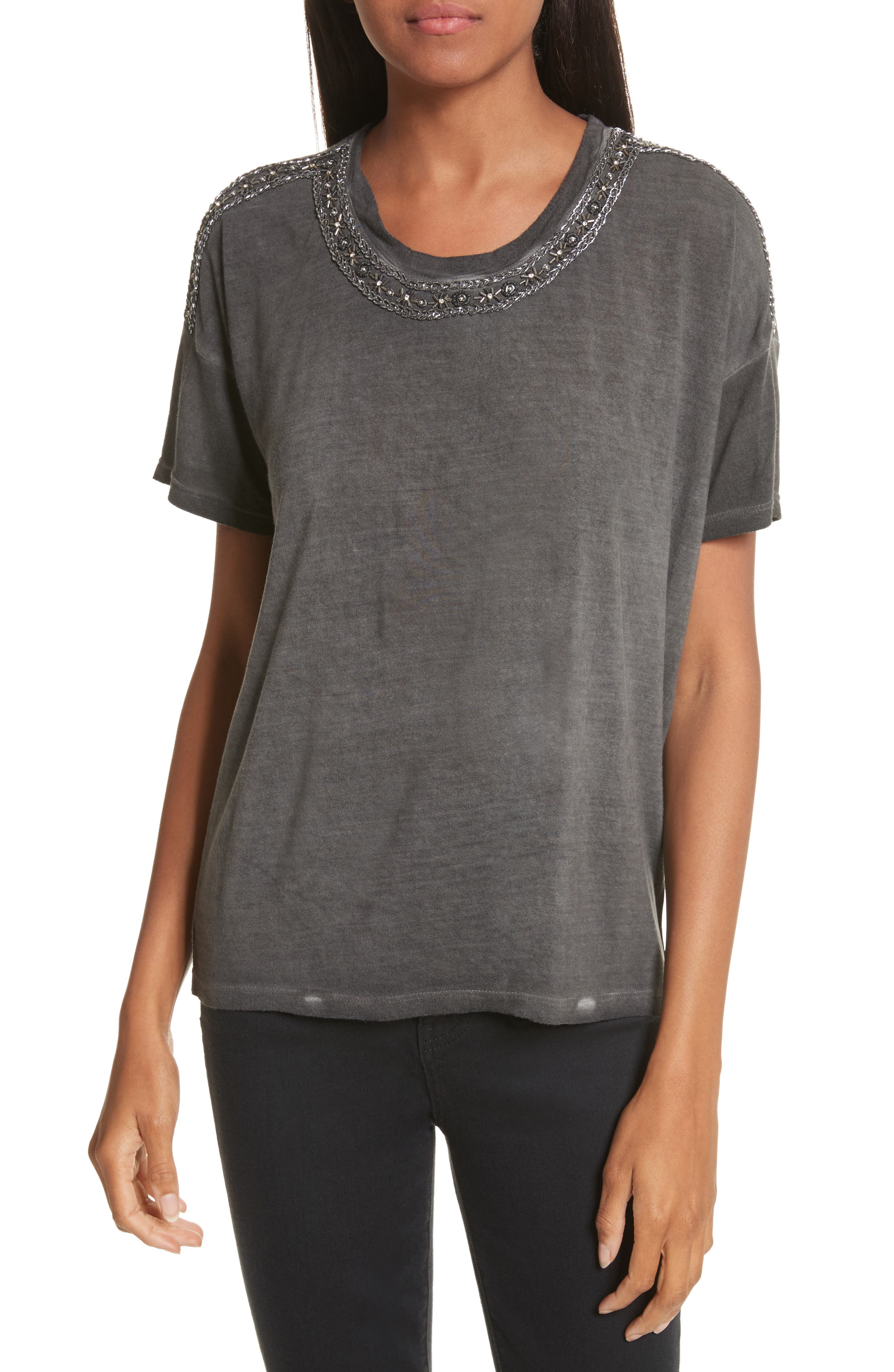 The Kooples Bead Embroidered Tee