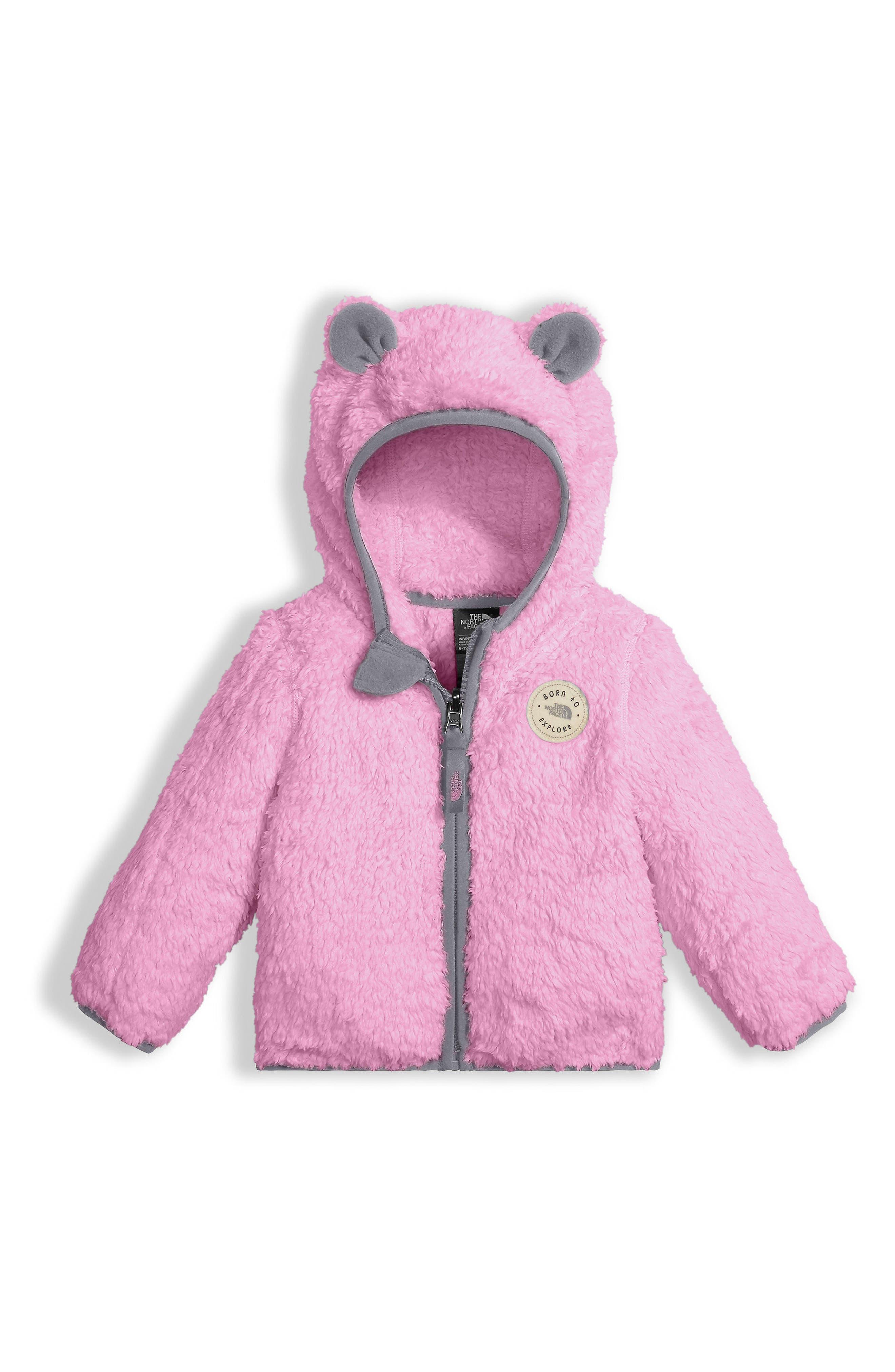 Main Image - The North Face Plushee Bear Zip Hoodie (Baby Girls)