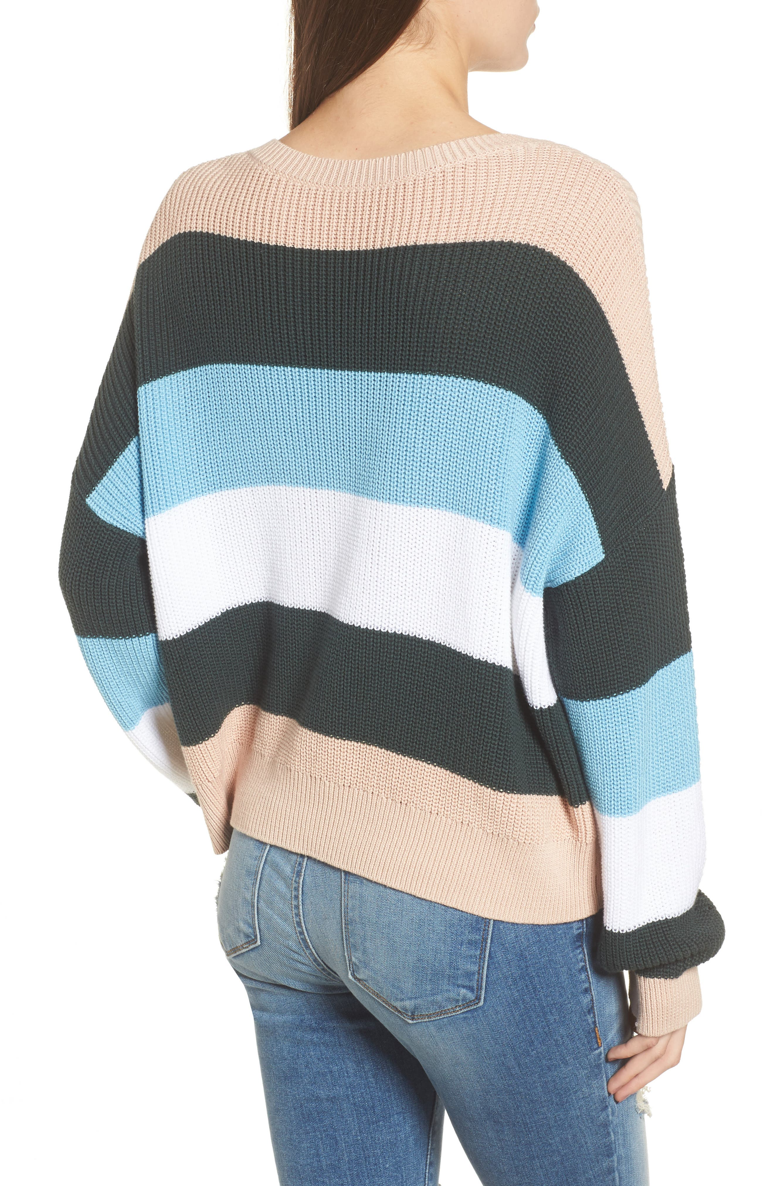 Stripe Sweater,                             Alternate thumbnail 2, color,                             Pink Hero Felicity Stripe