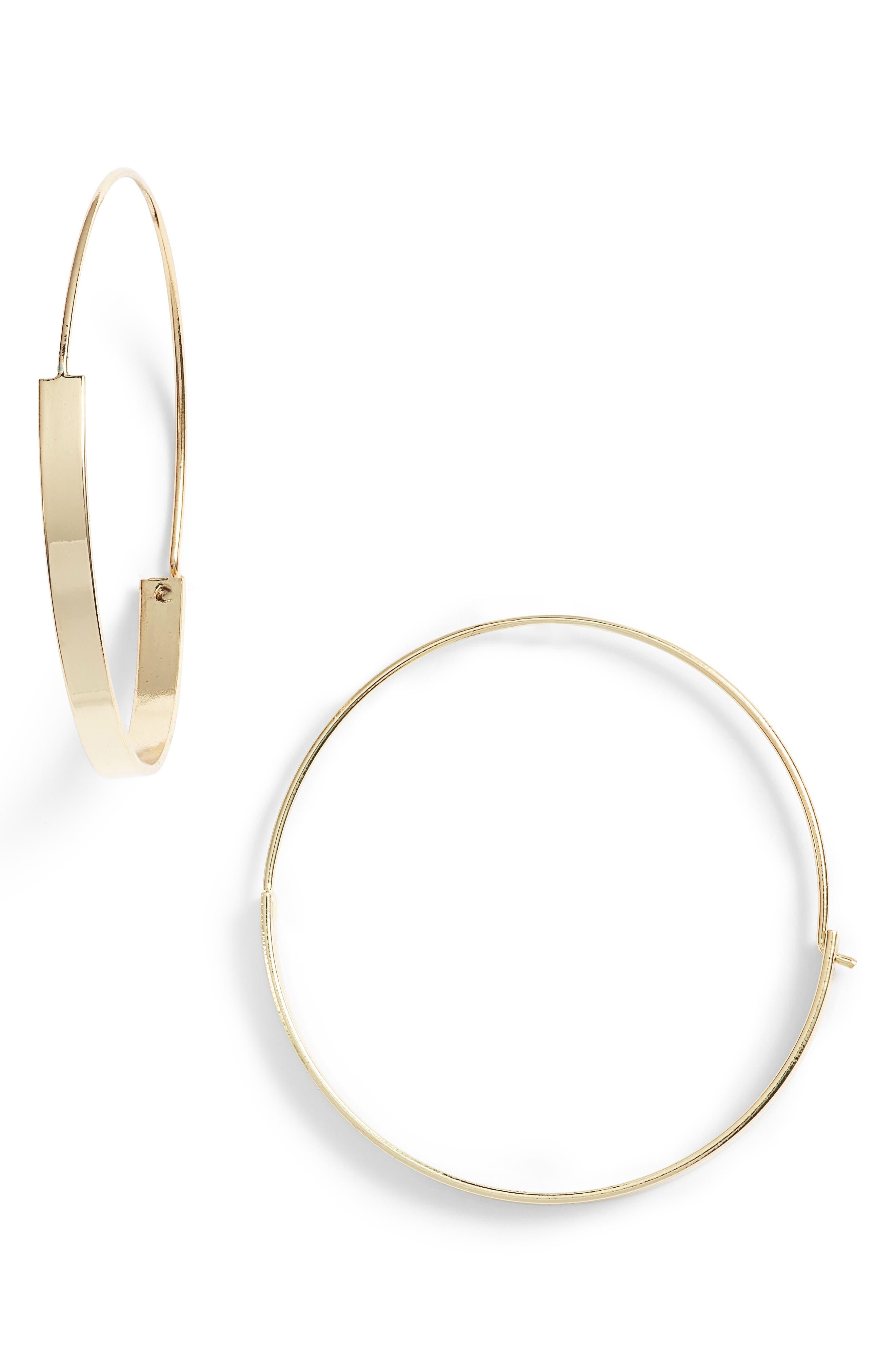 Kinley Hoop Earrings,                         Main,                         color, Gold