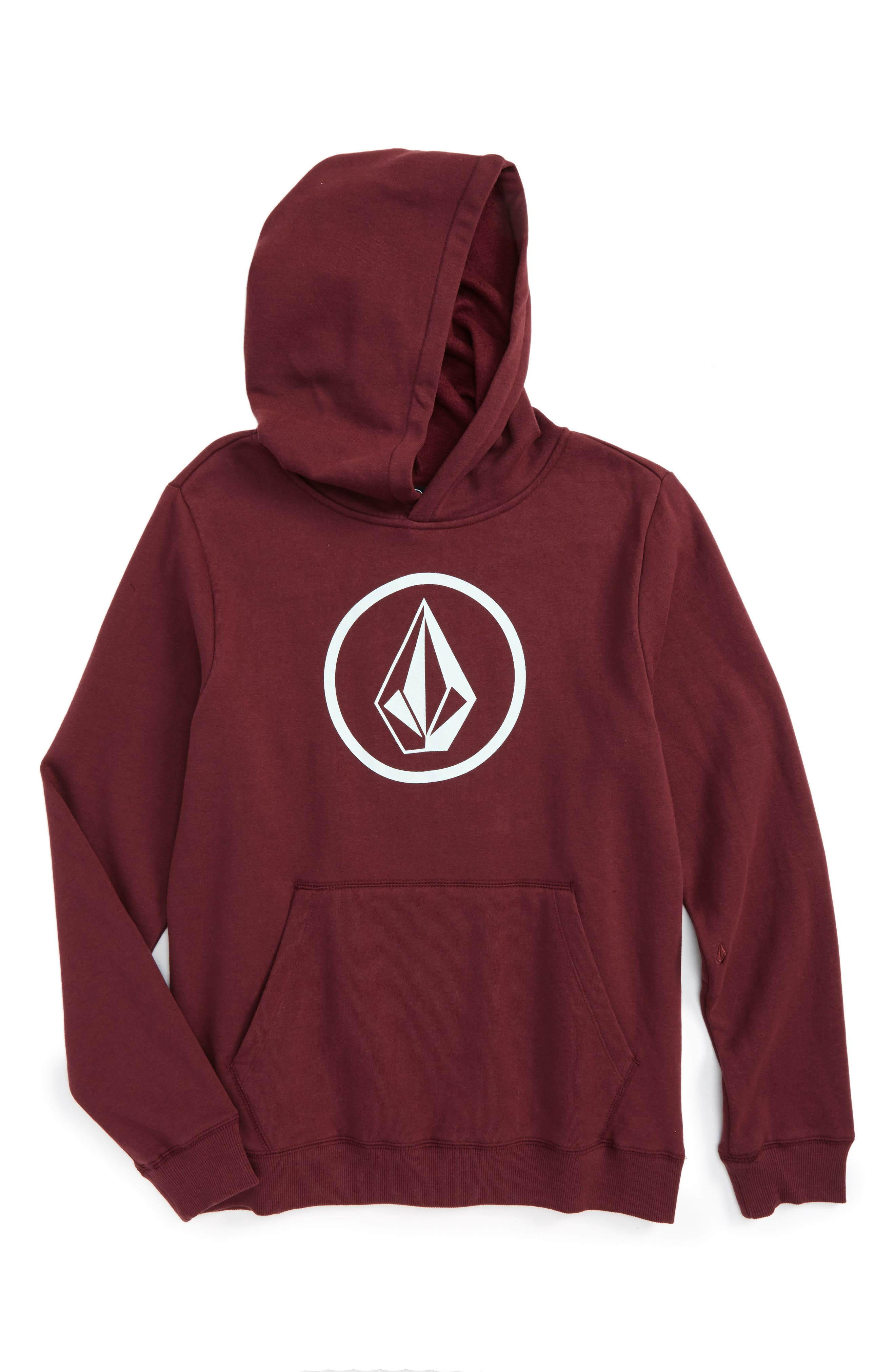 Stone Logo Pullover Hoodie,                         Main,                         color, Dark Port