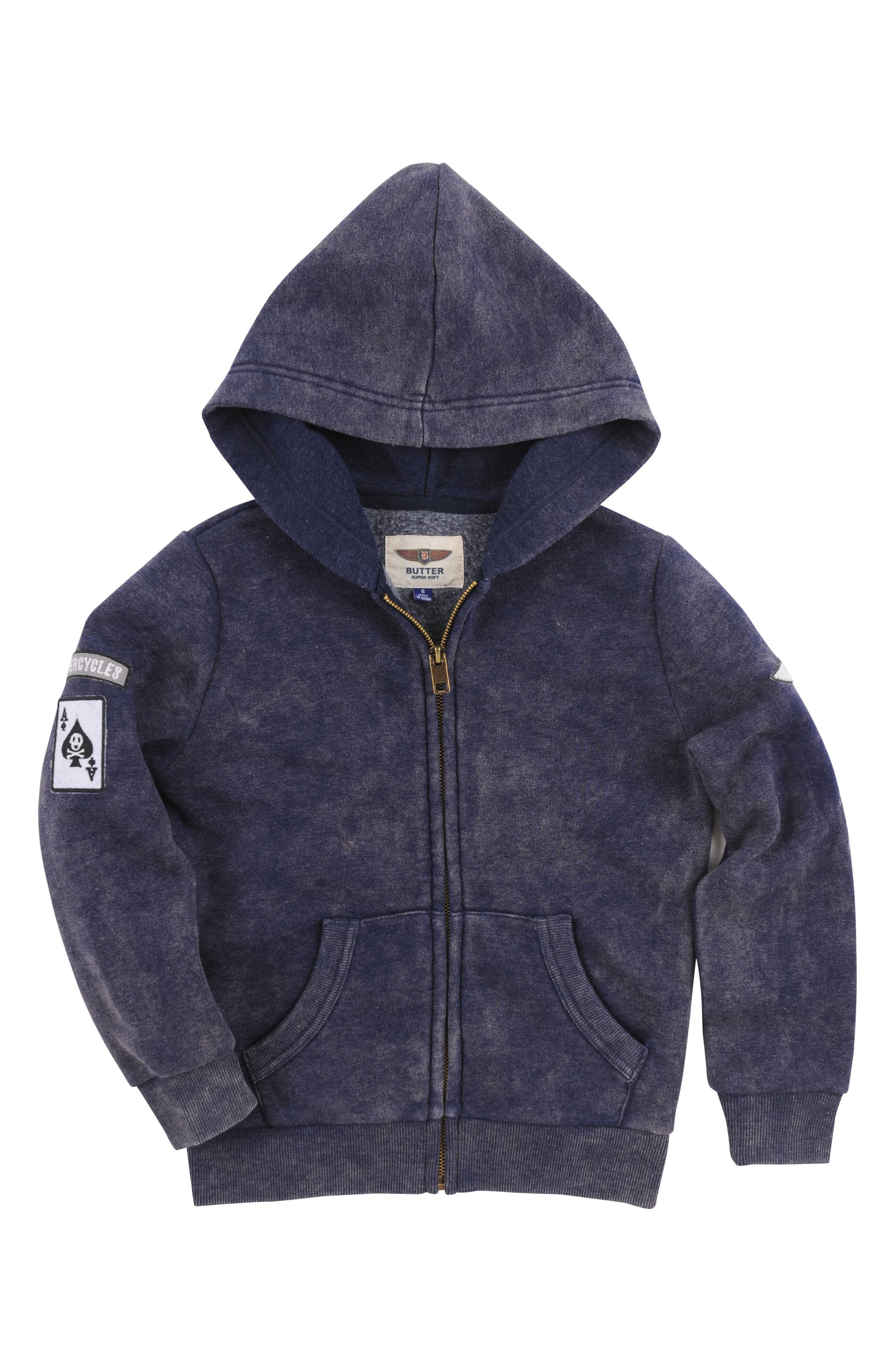 Graphic Zip Hoodie,                         Main,                         color, Maritime Blue
