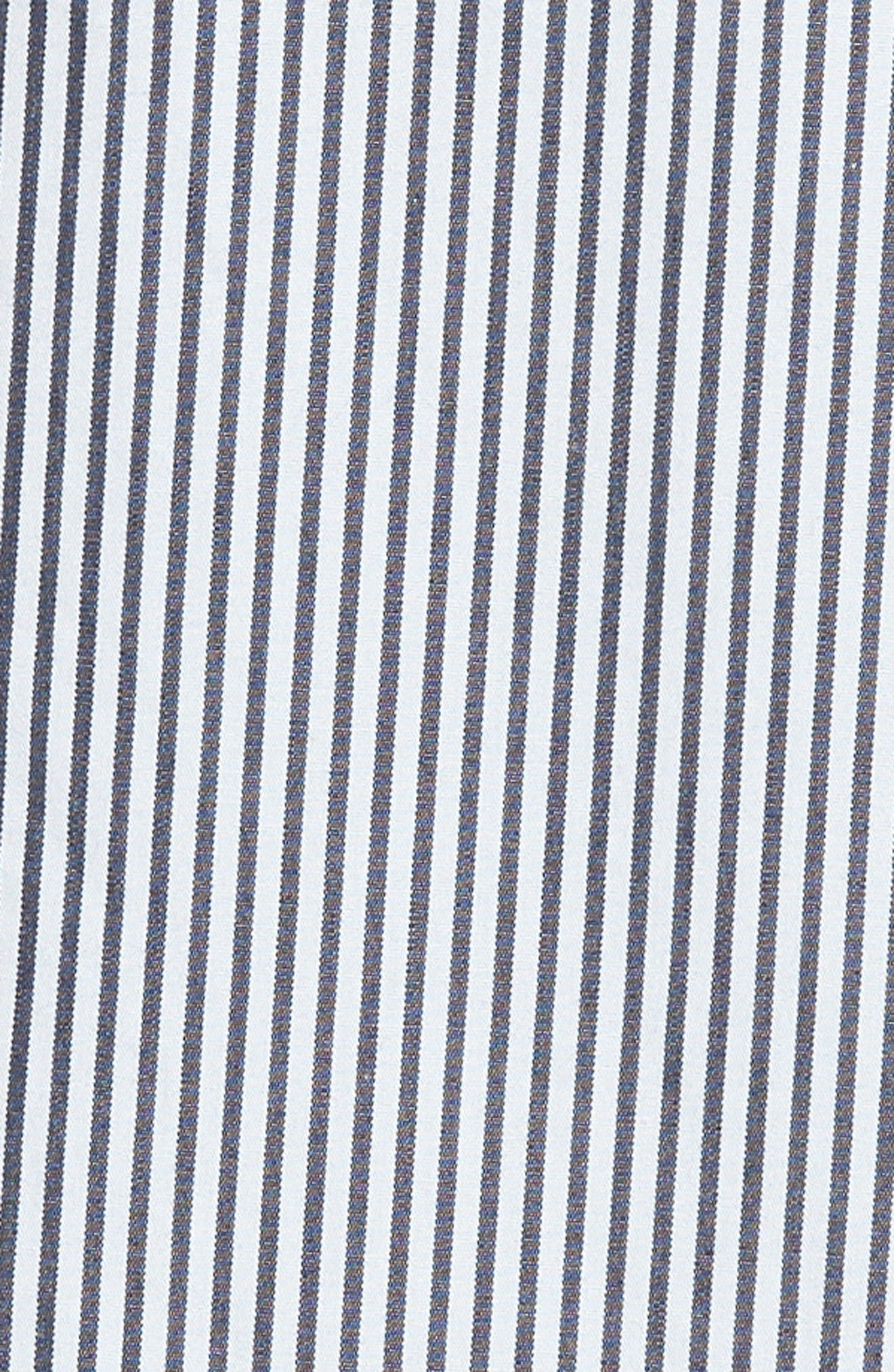 Ruffle Poplin Shirt,                             Alternate thumbnail 5, color,                             Even Stripe