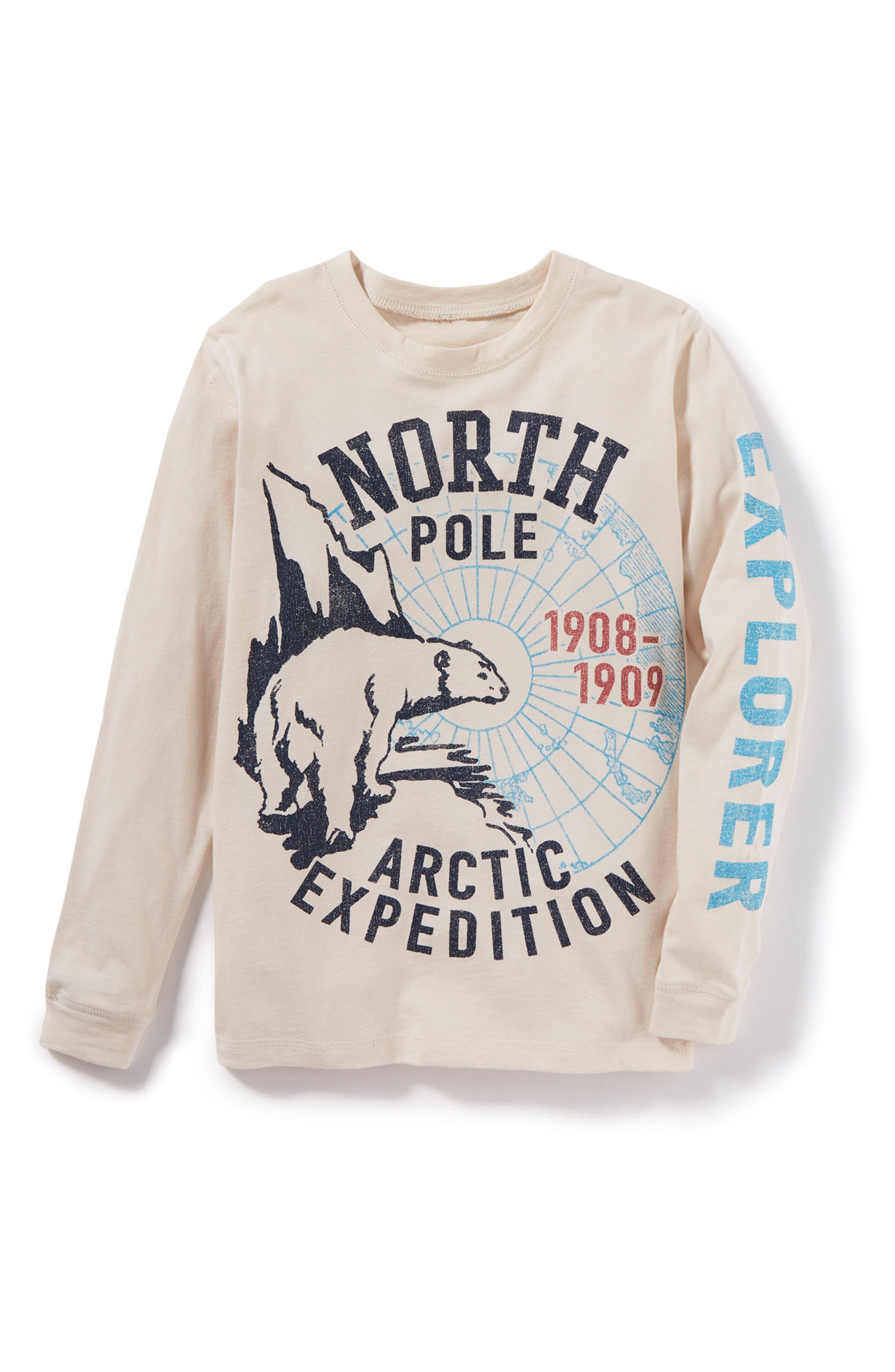 Main Image - Peek Arctic Expedition Graphic Long Sleeve T-Shirt (Toddler Boys, Little Boys & Big Boys)
