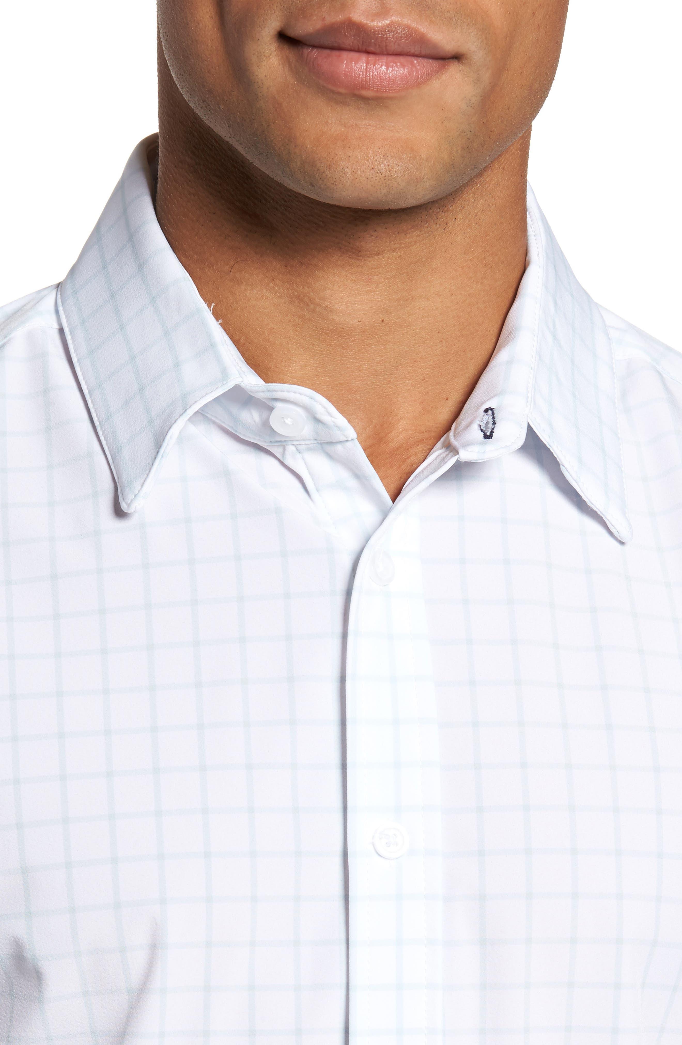 Blue Label Hull Slim Fit Crosshatch Sport Shirt,                             Alternate thumbnail 2, color,                             Blue