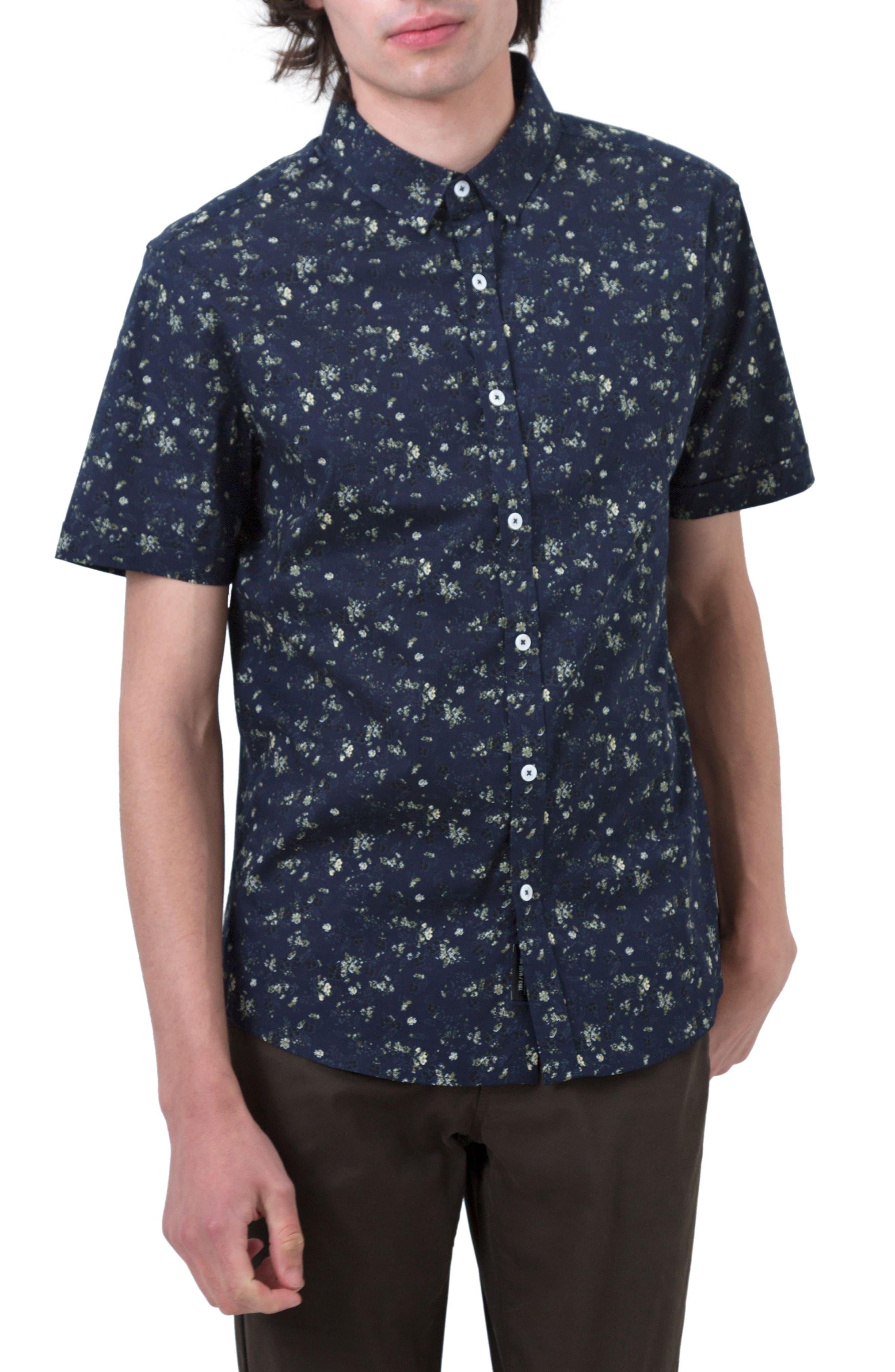 Alternate Image 1 Selected - 7 Diamonds Rising Water Print Woven Shirt