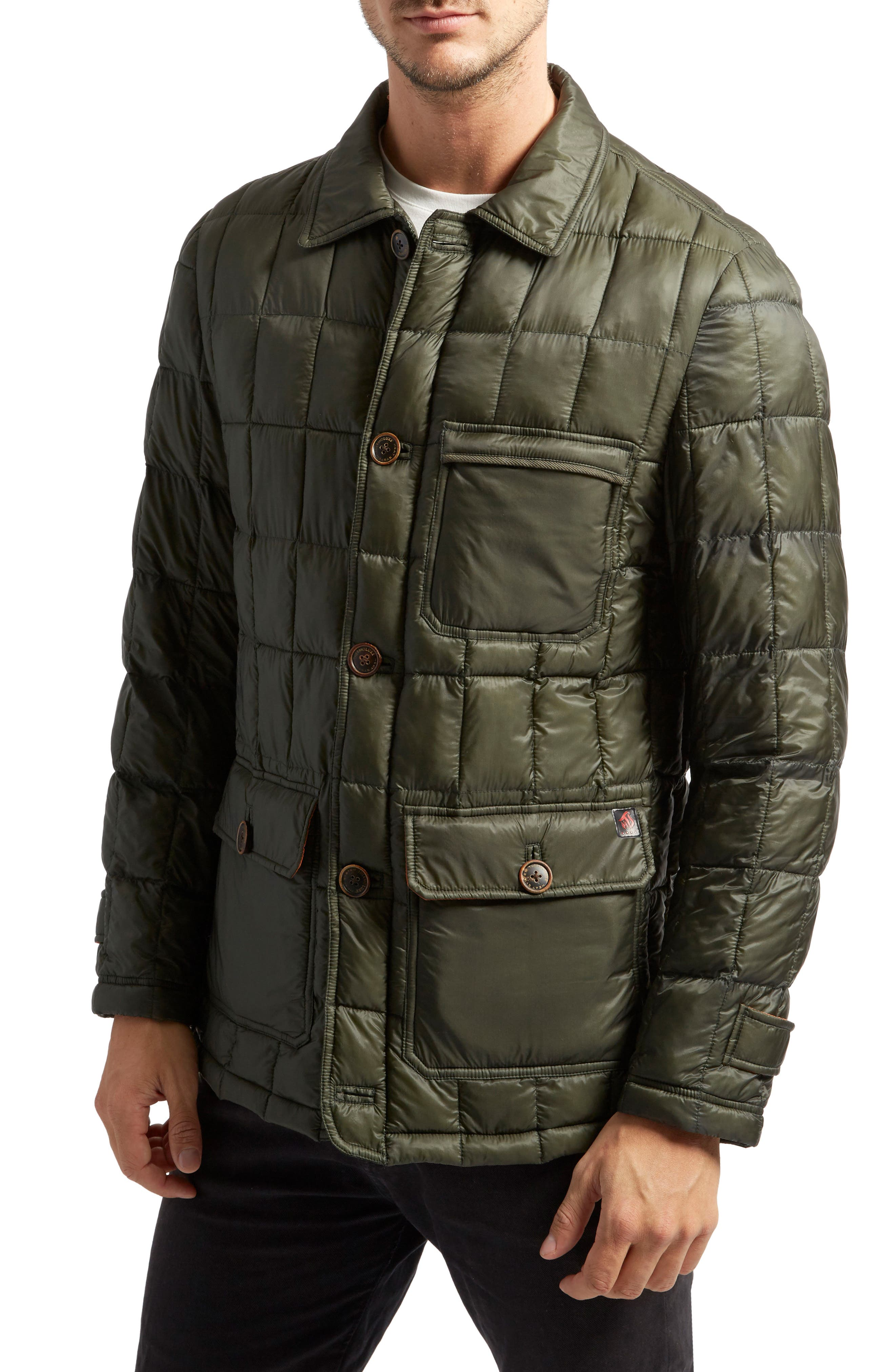 Butler Heat System Quilted Walking Jacket,                             Main thumbnail 1, color,                             Kale