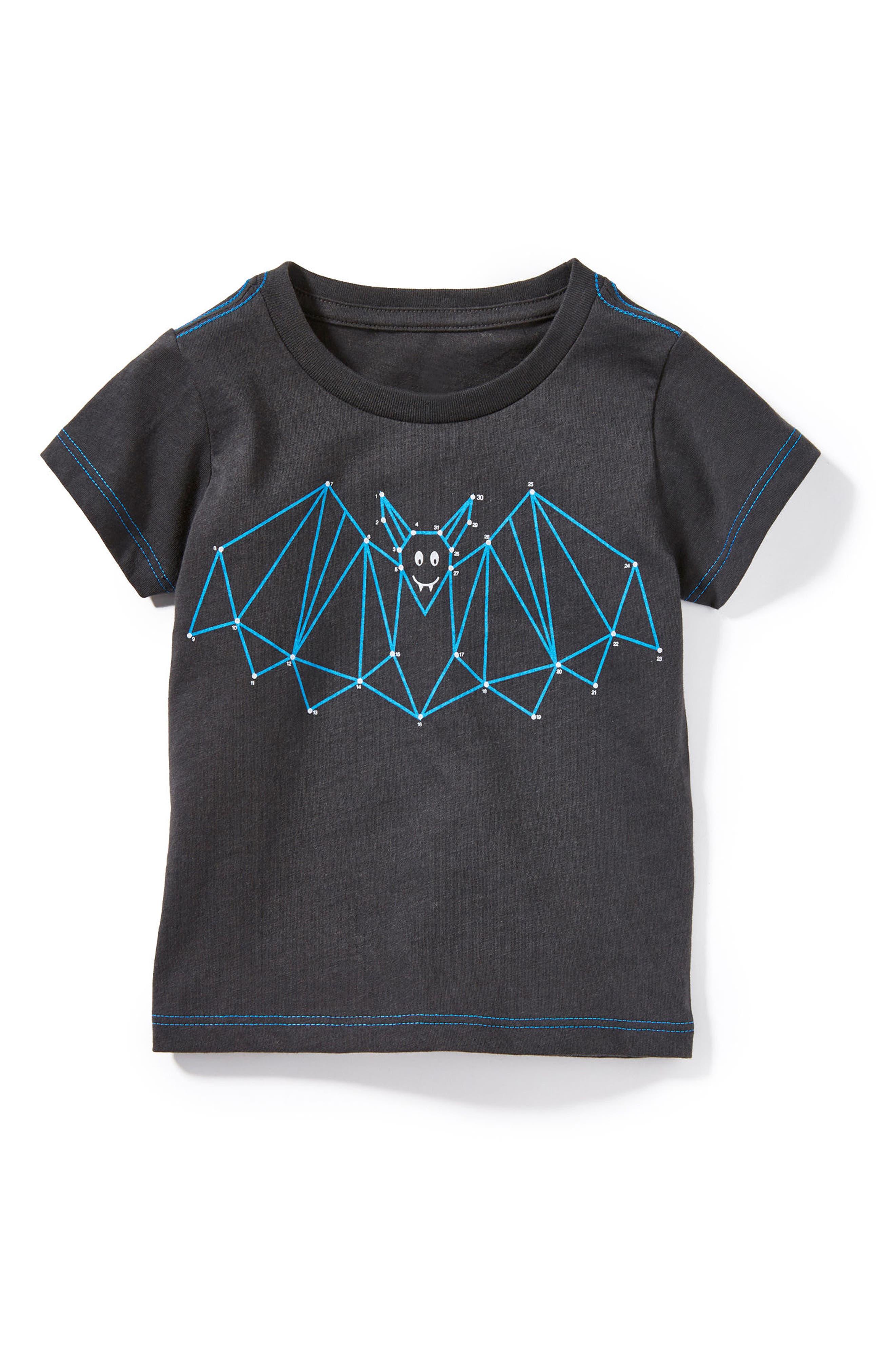 Peek Bat Graphic T-Shirt,                             Main thumbnail 1, color,                             Black