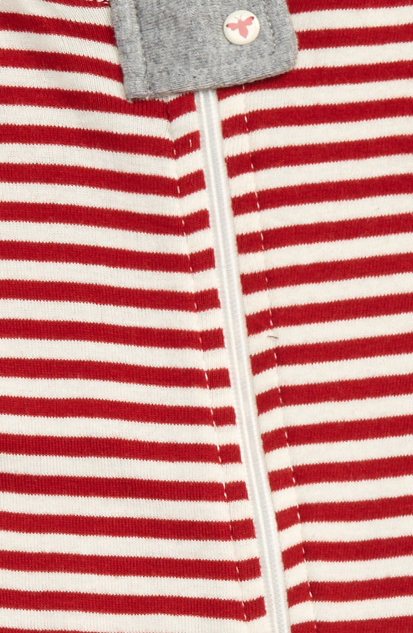 Alternate Image 2  - Burt's Bees Baby Fitted One-Piece Footie Pajamas (Baby)