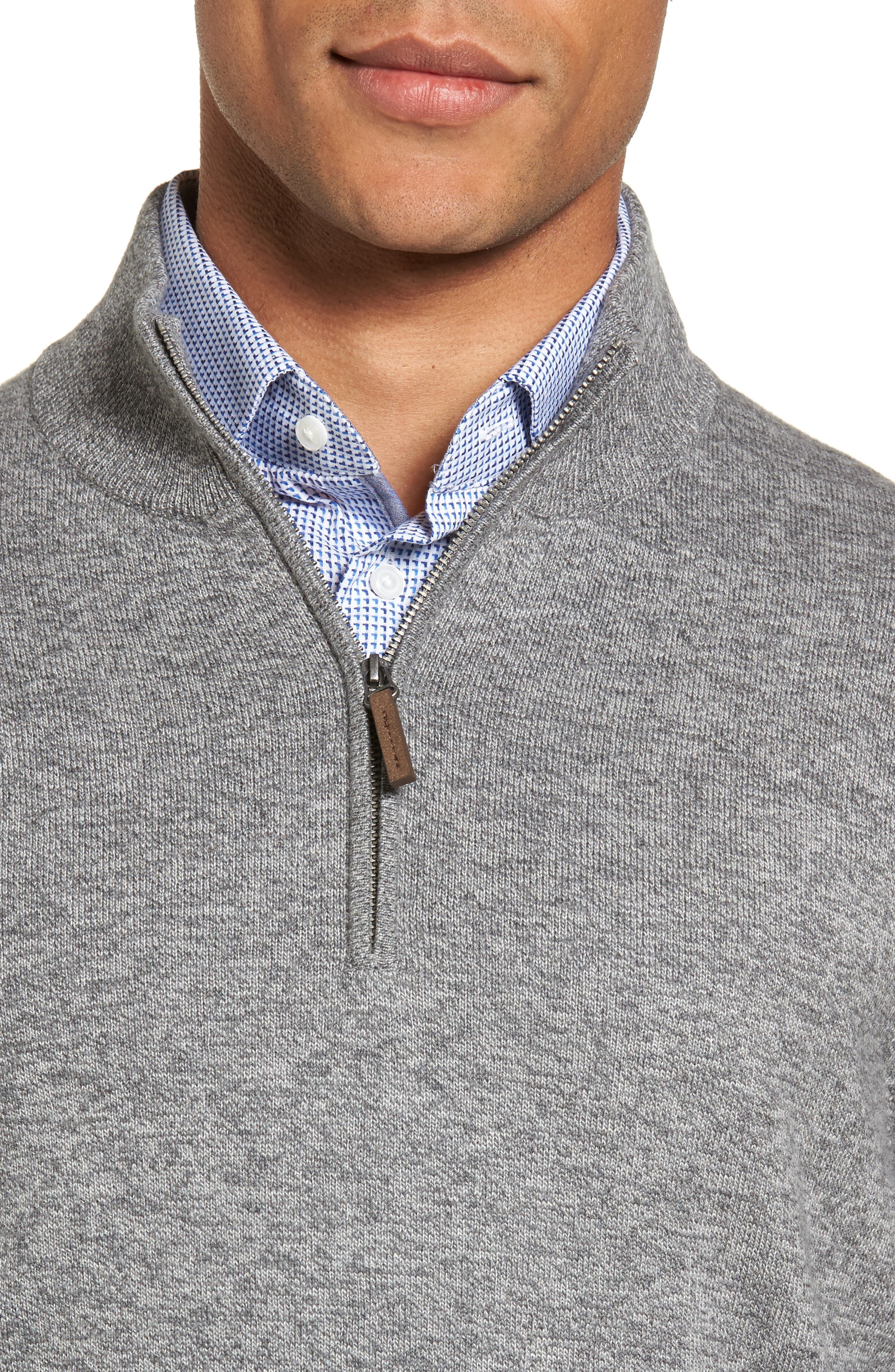 Alternate Image 4  - Nordstrom Men's Shop Quarter Zip Sweater (Big)