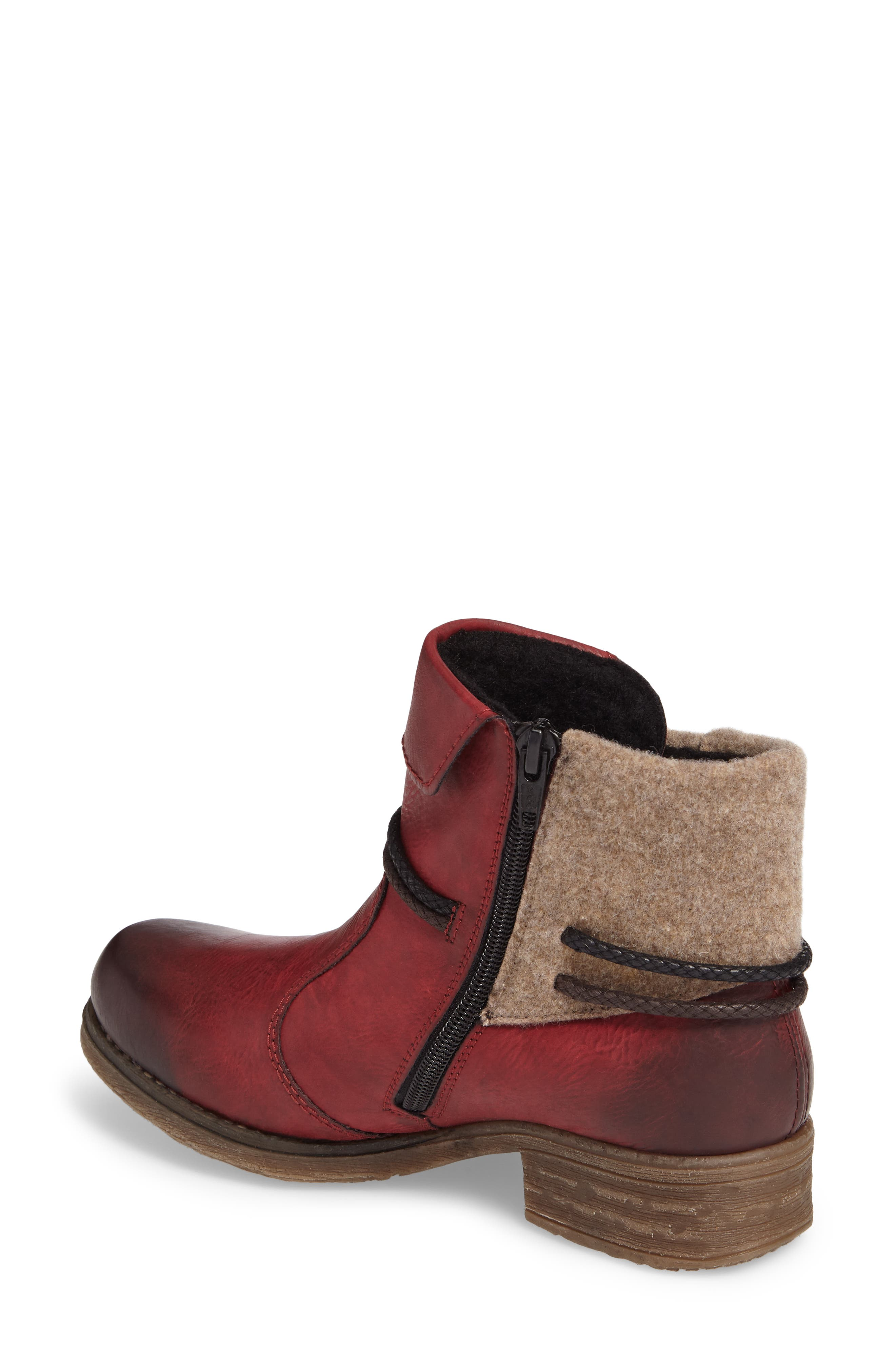 'Fee 93' Cuffed Shaft Bootie,                             Alternate thumbnail 2, color,                             Wine Faux Leather