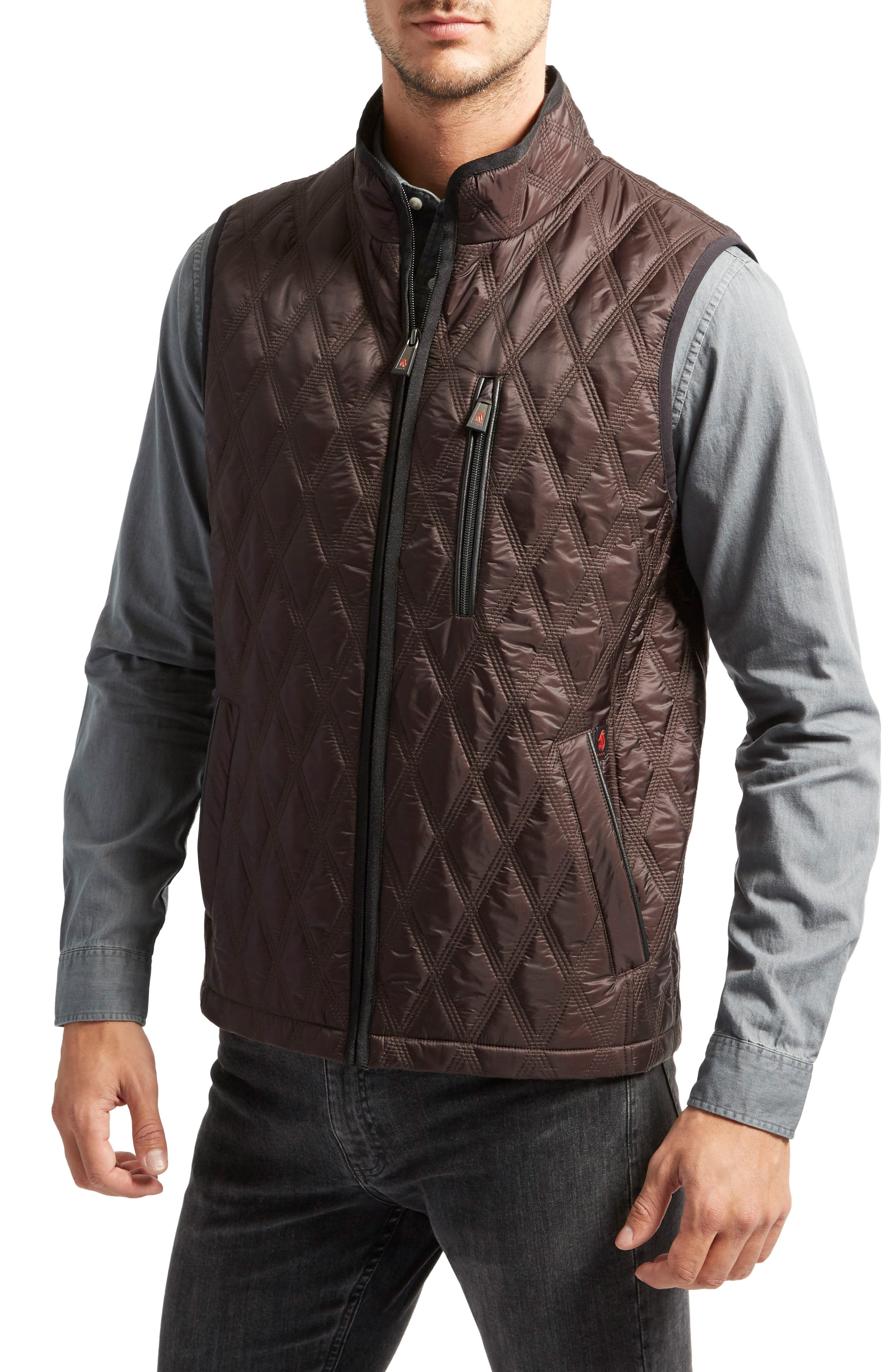 Huntsville Triple Stitch Quilted Heat System Vest,                         Main,                         color, Hickory