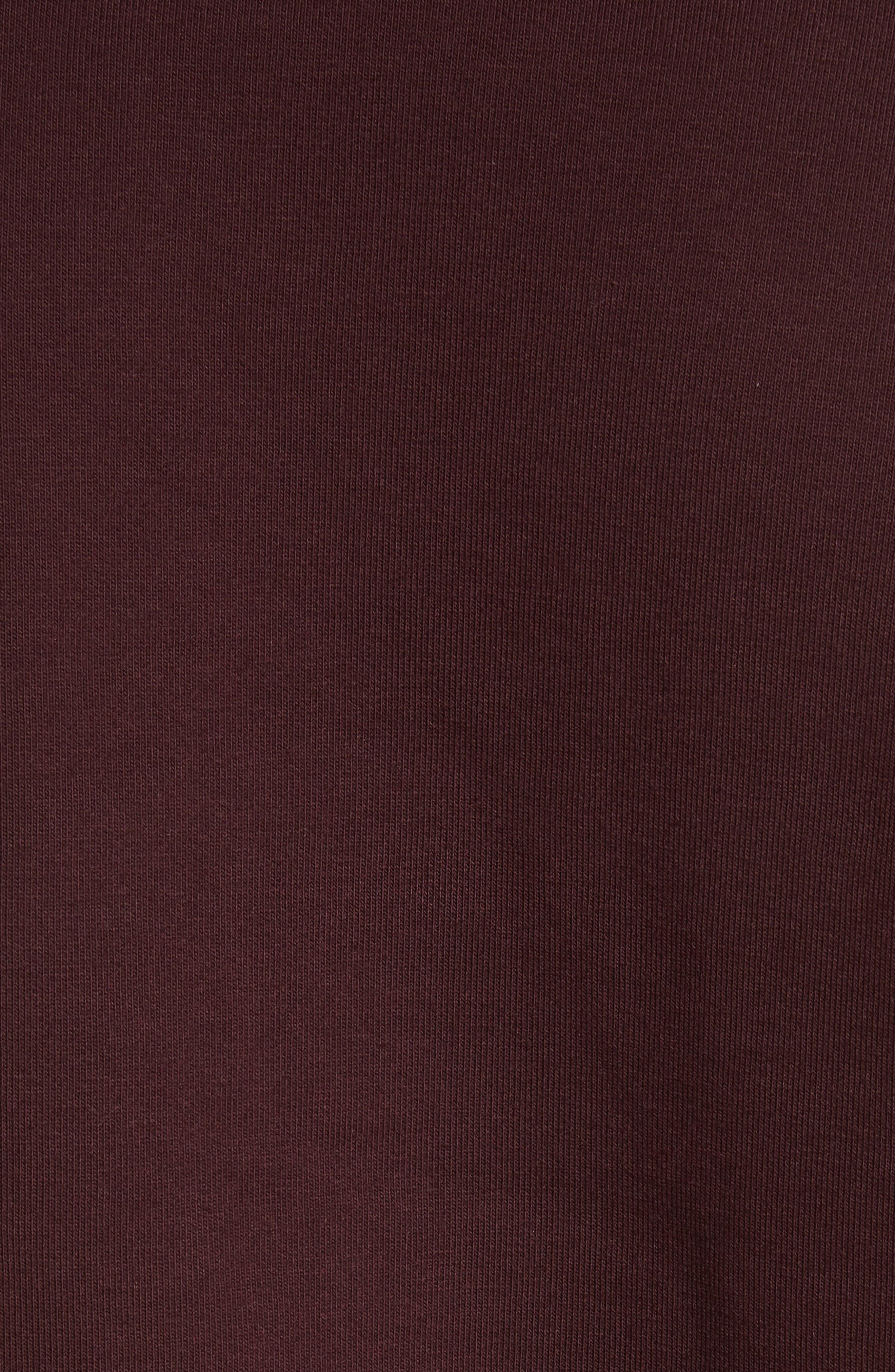 Crewneck Sweatshirt,                             Alternate thumbnail 5, color,                             Damson/ Gold