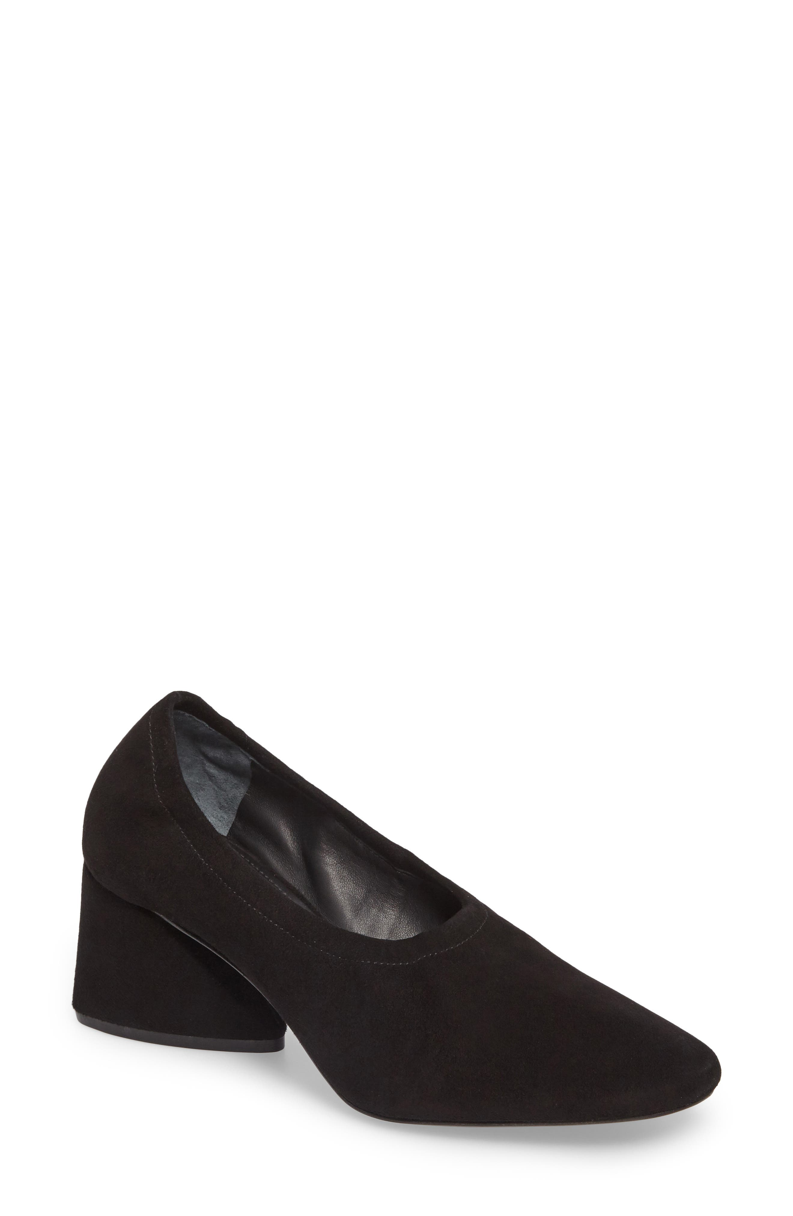 Emilia Pump,                             Main thumbnail 1, color,                             Black Suede