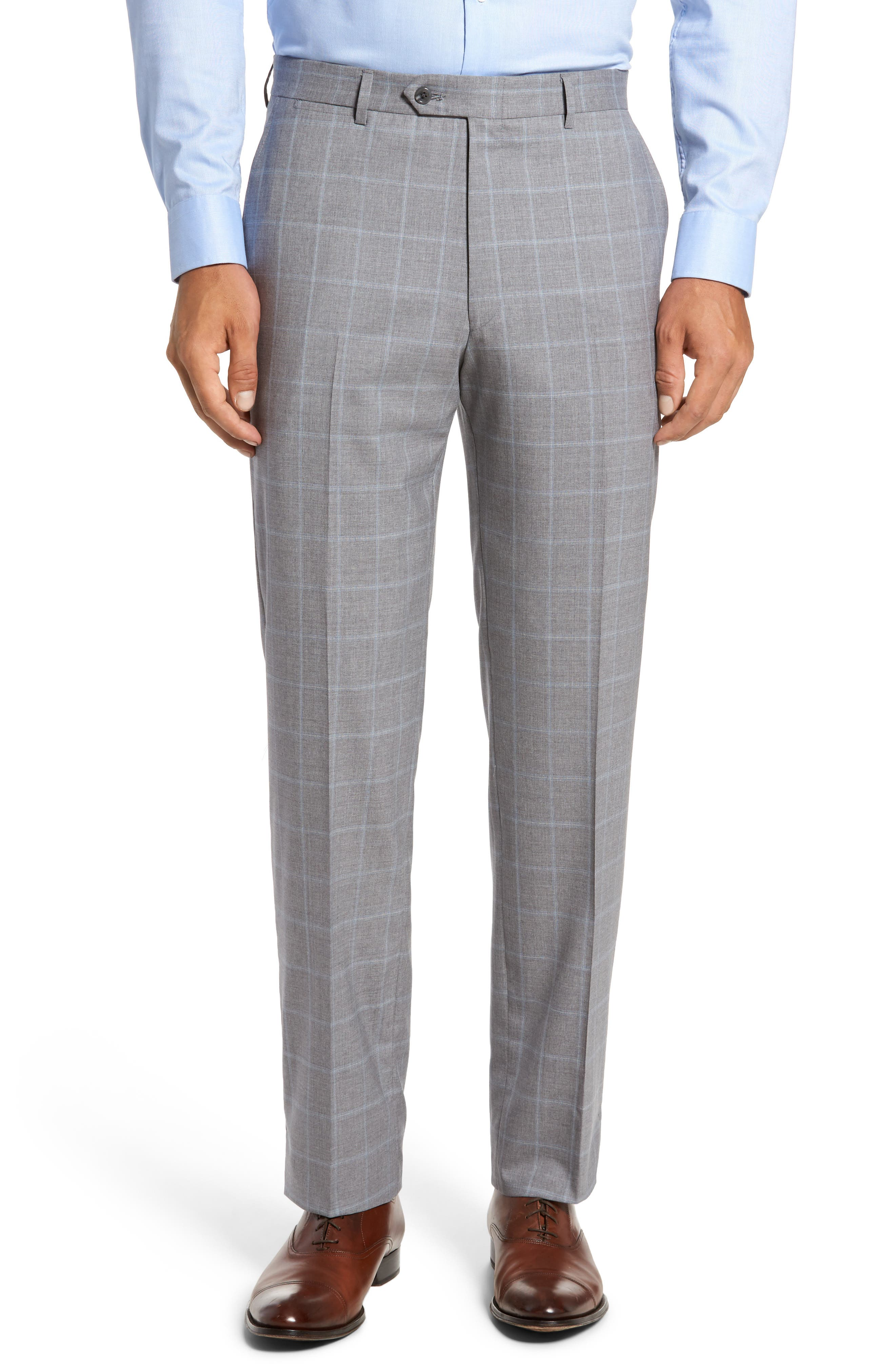 Alternate Image 6  - Hart Schaffner Marx Classic Fit Windowpane Wool Suit