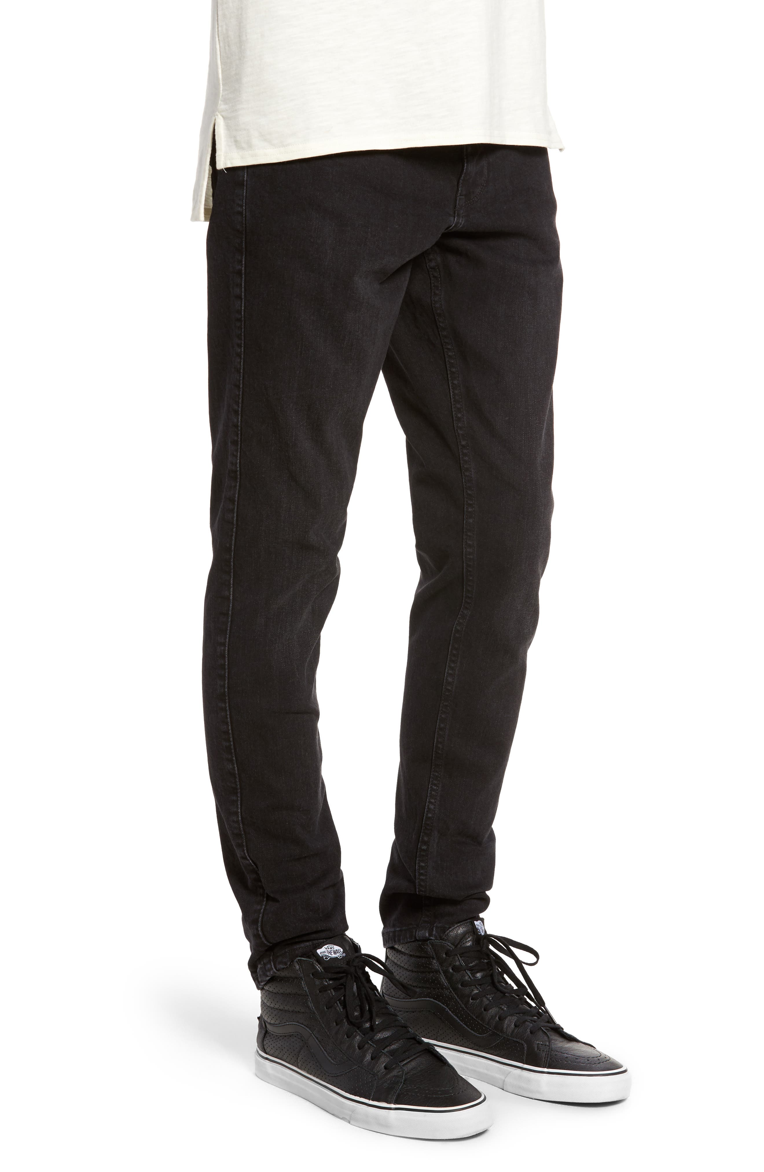 Clark Slim Straight Leg Jeans,                             Alternate thumbnail 3, color,                             Organic Worn Black