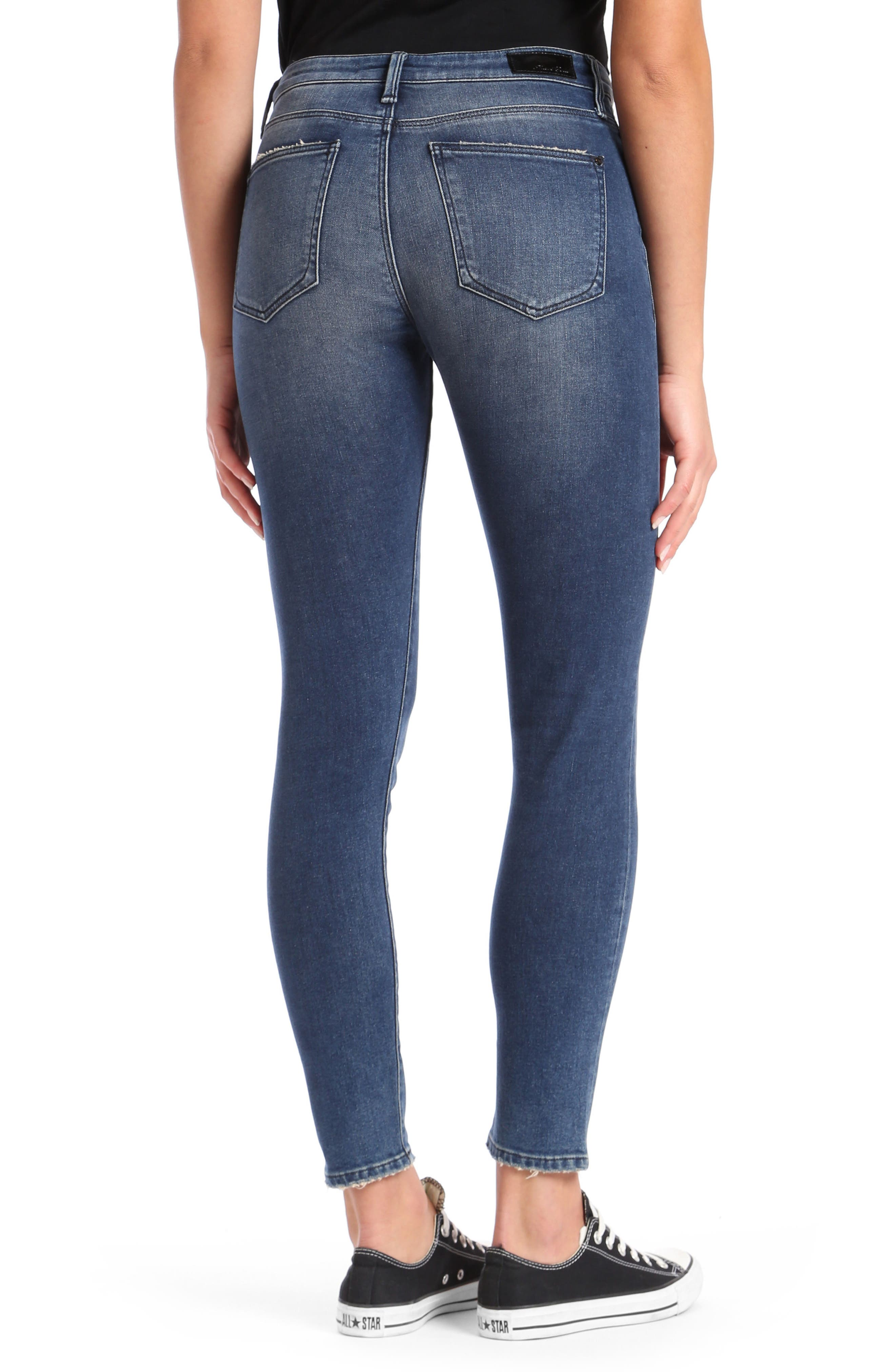Lucy Skinny Jeans,                             Alternate thumbnail 3, color,                             Dark Vintage Gold Icon