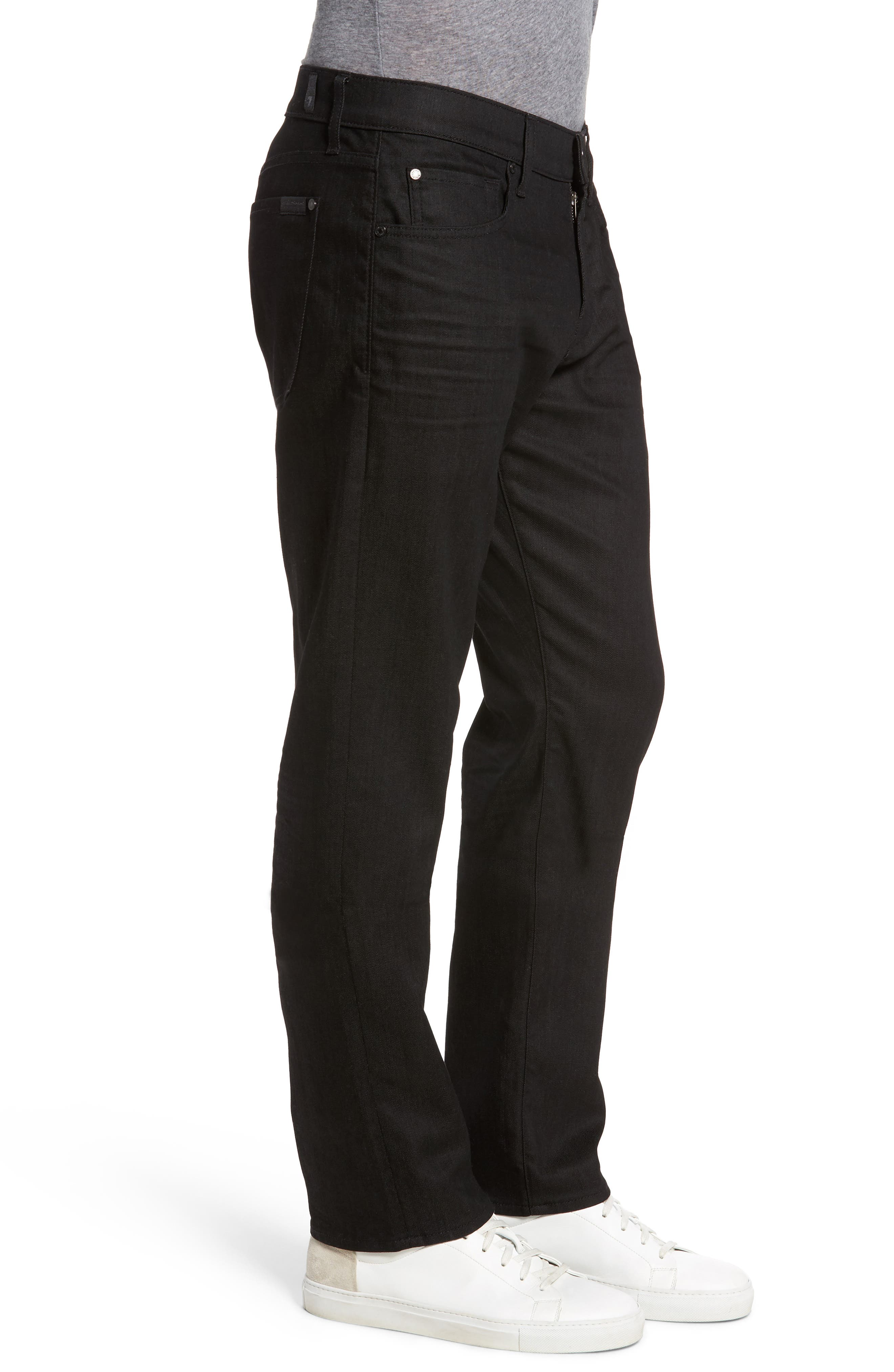Alternate Image 3  - 7 For All Mankind® The Straight Slim Straight Fit Jeans (Soirée Black)