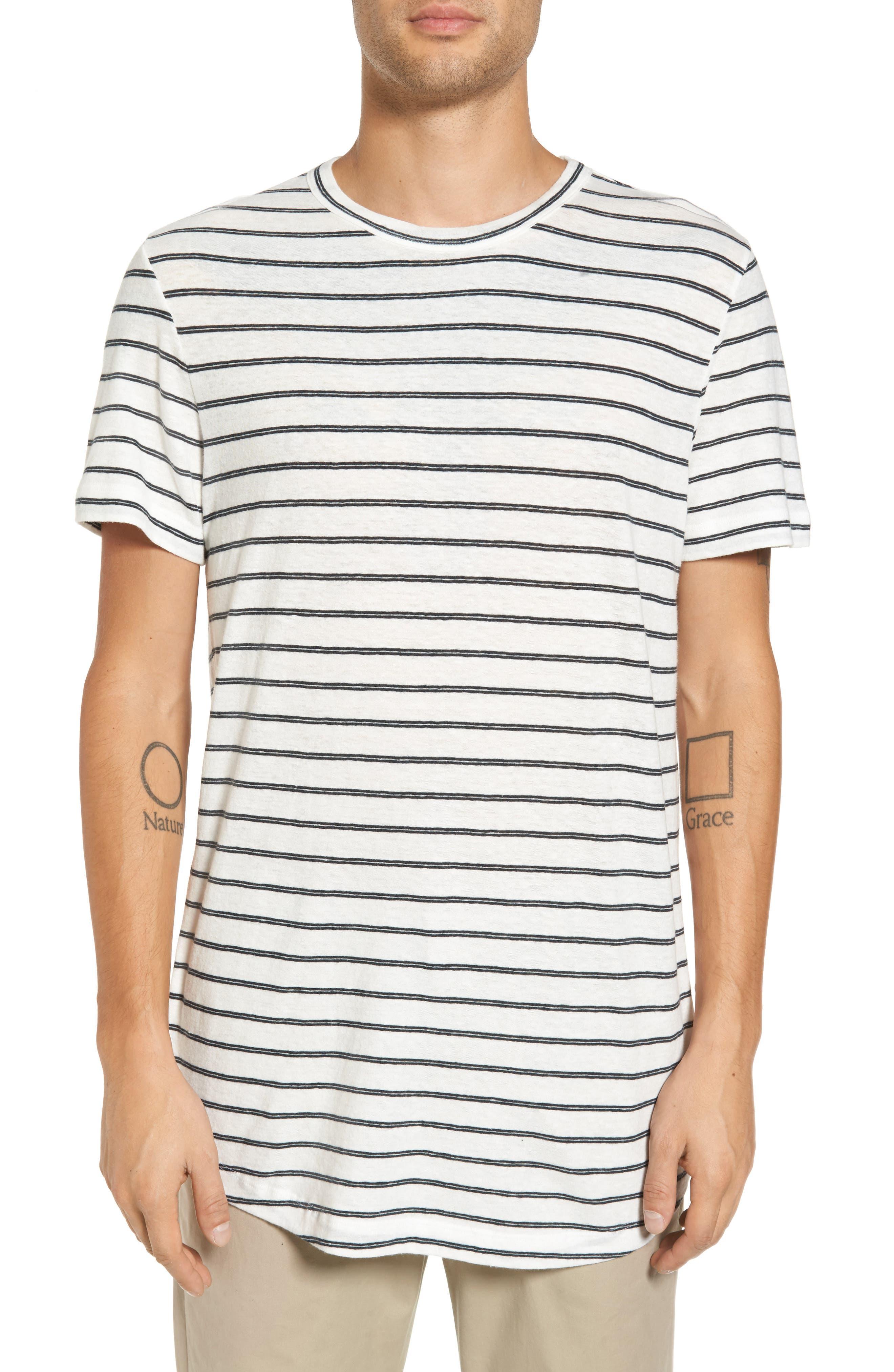 Theory Stripe Palm Jersey Standard T-Shirt