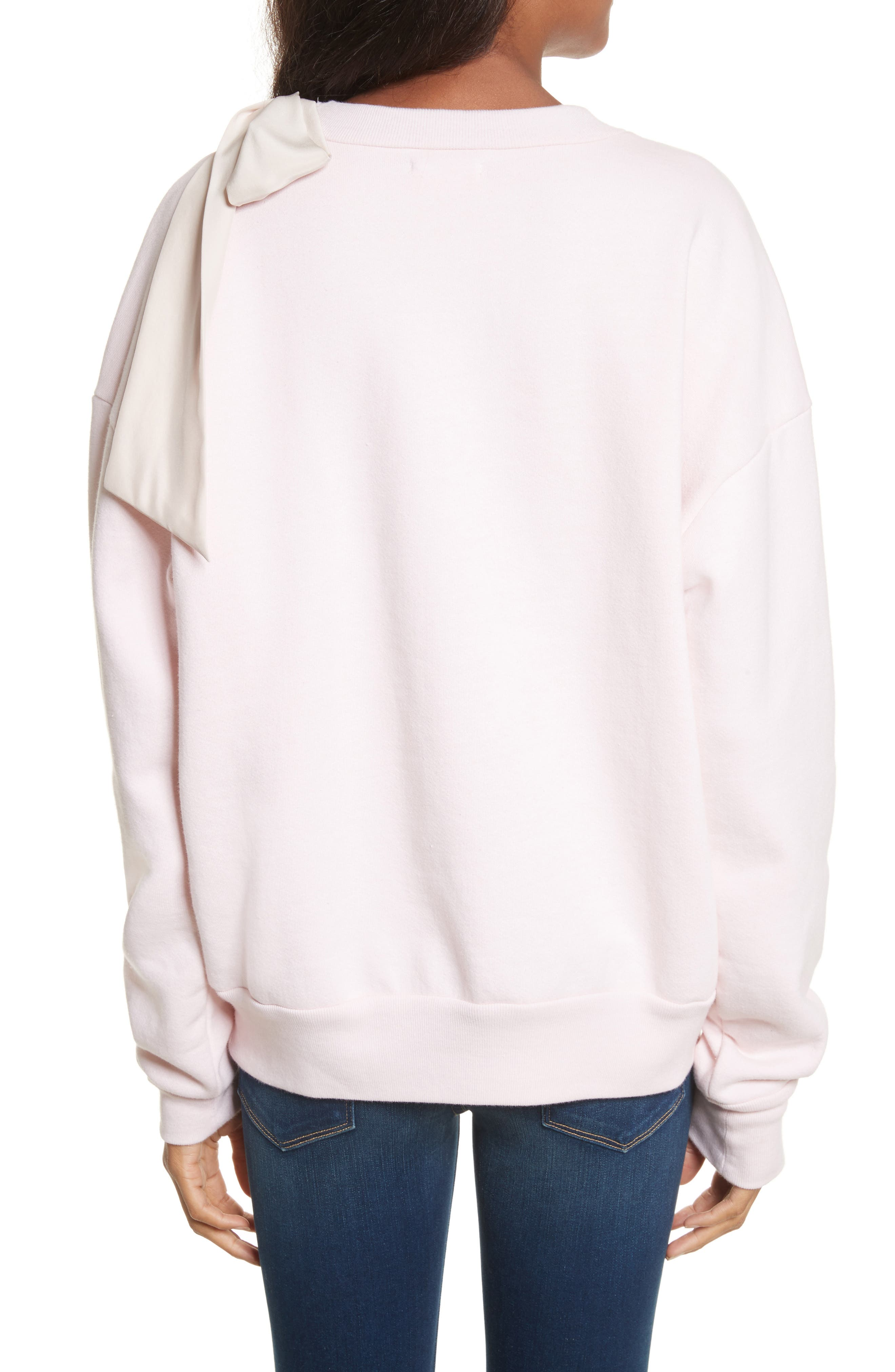 Bow Sweatshirt,                             Alternate thumbnail 3, color,                             Light Pink Exclusive