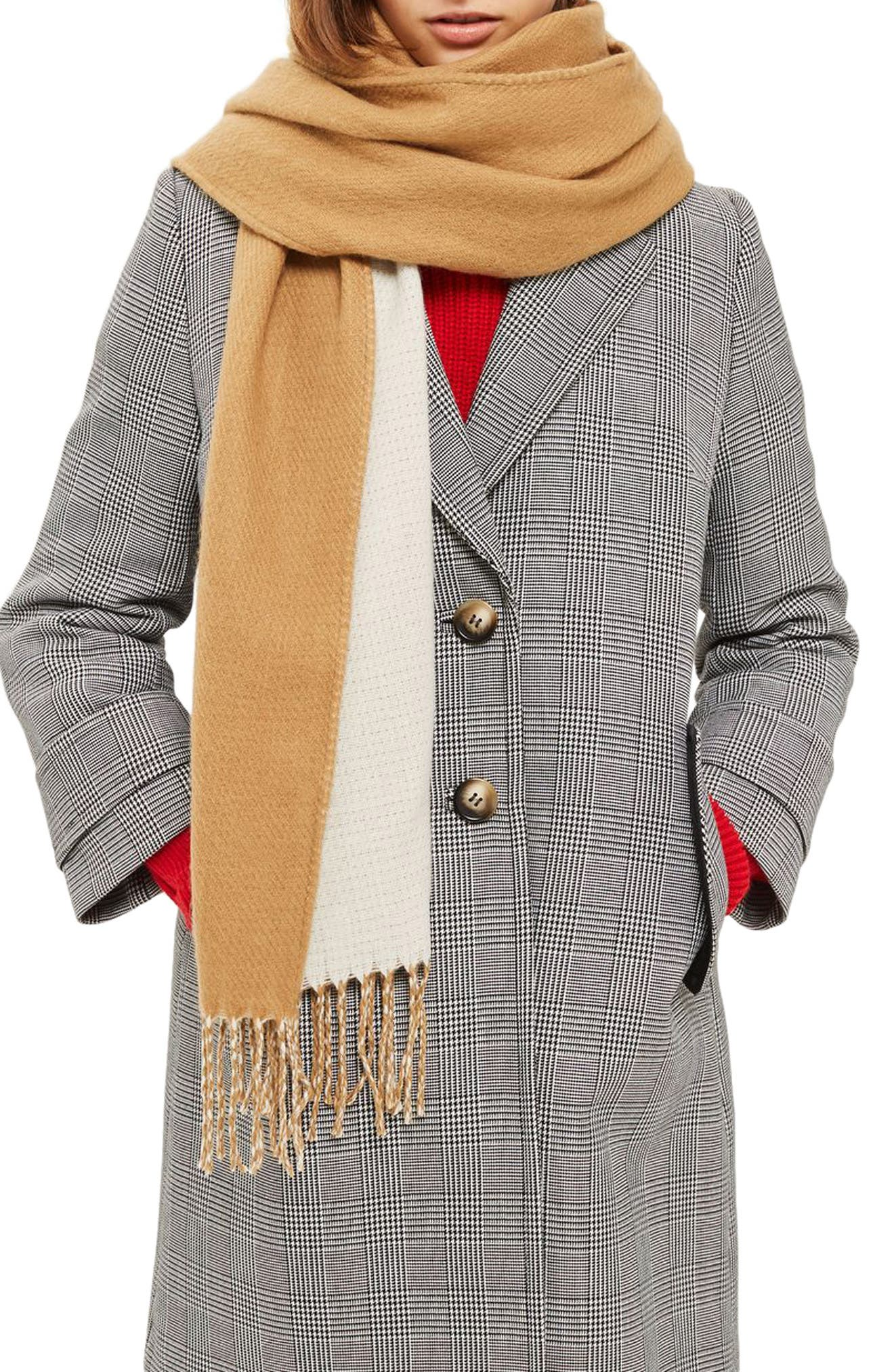 Topshop Double Face Scarf