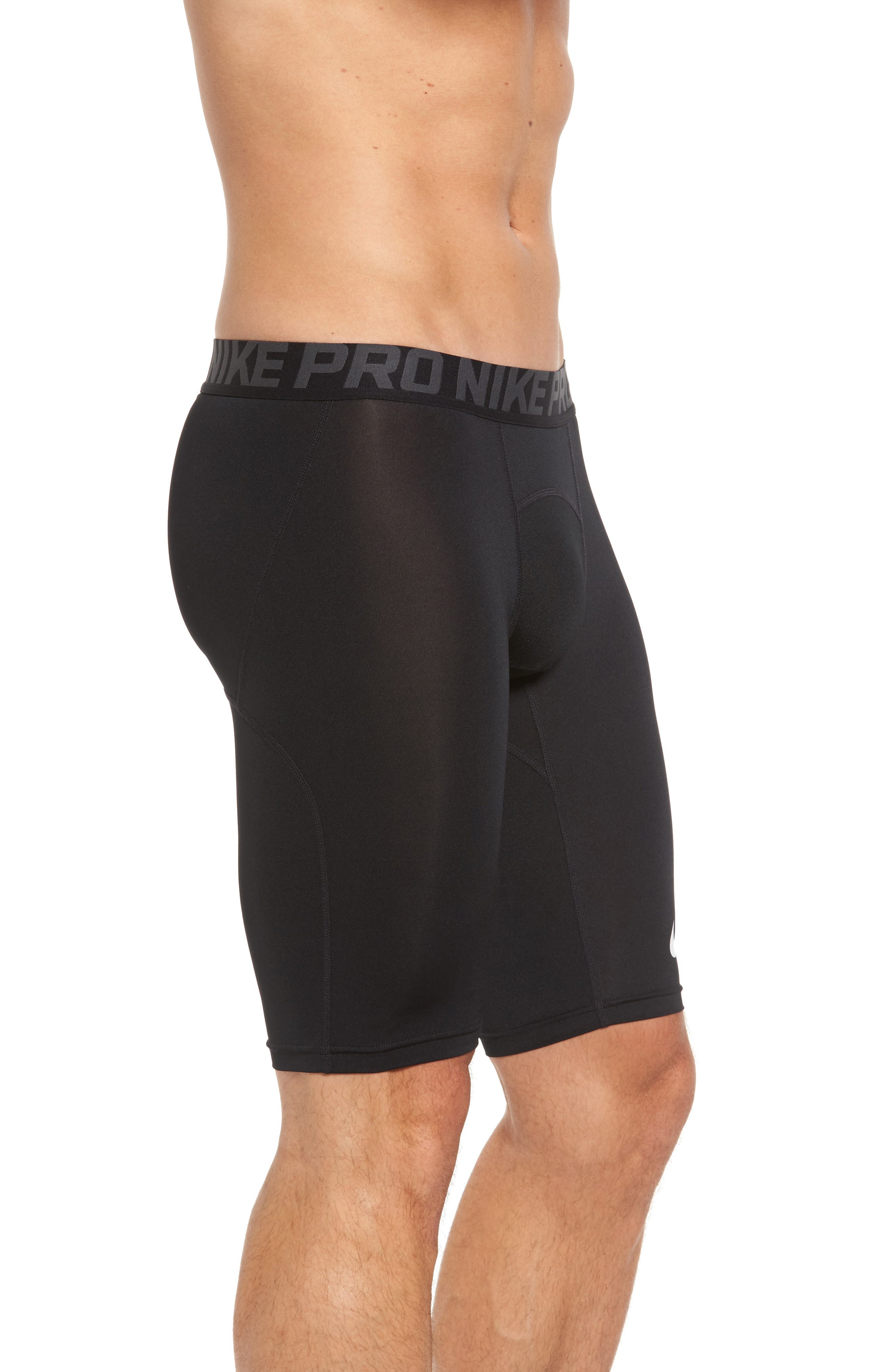 Pro Compression Shorts,                             Alternate thumbnail 3, color,                             Black/ Anthracite/ White