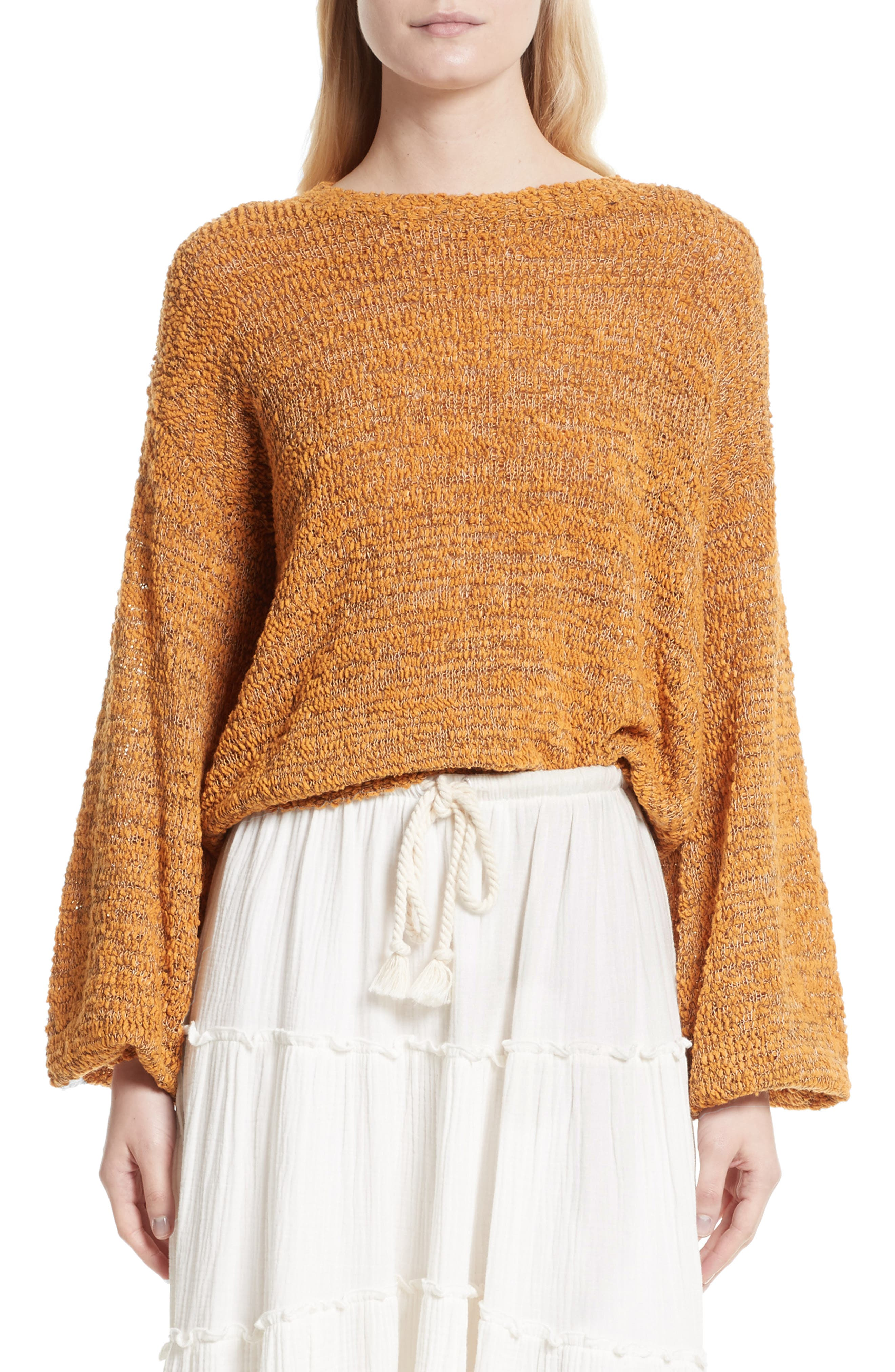 See by Chloé Merino Wool Blend Crewneck Sweater