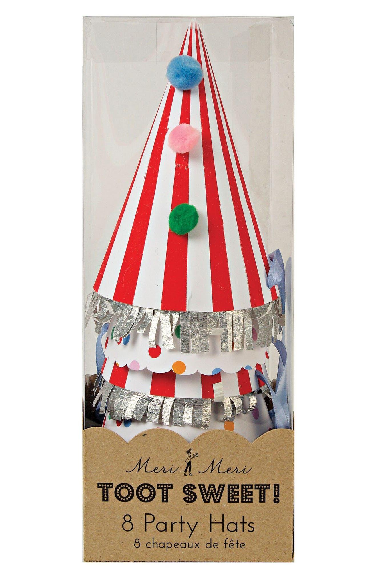 Meri Meri Toot Sweet 8-Pack Party Hats