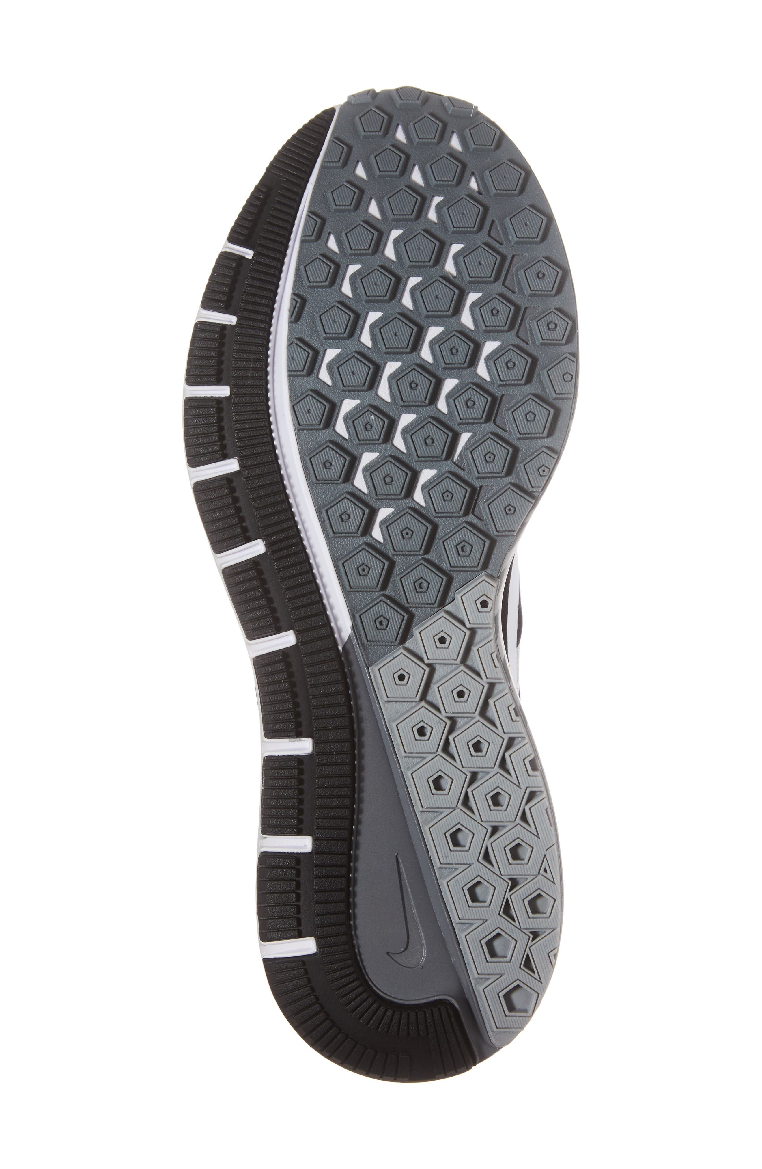 Air Zoom Structure 21 Running Shoe,                             Alternate thumbnail 6, color,                             Black/White/Wolf Grey