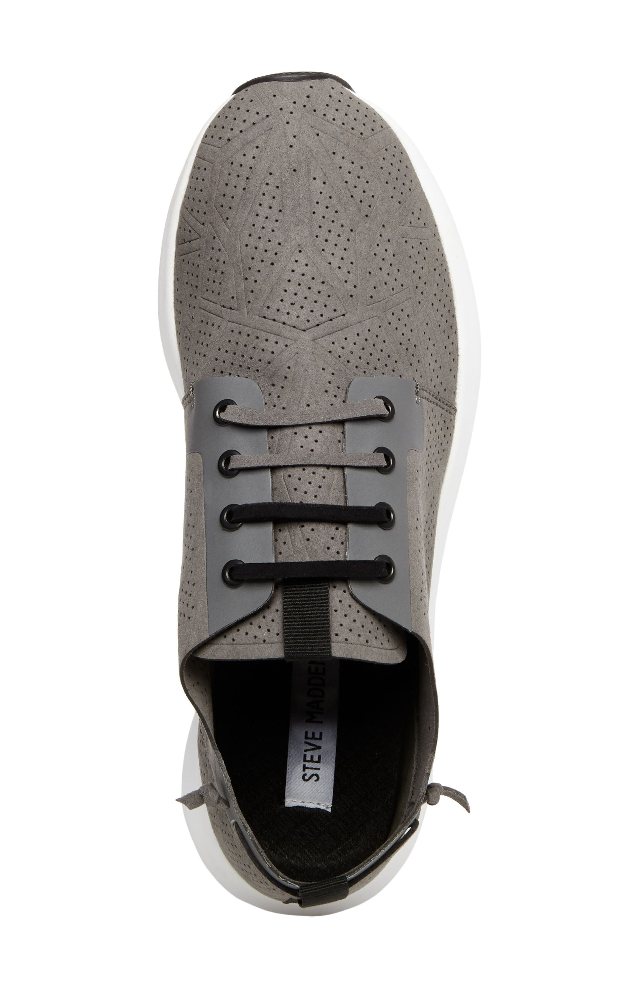 Batali Perforated Sneaker,                             Alternate thumbnail 5, color,                             Grey