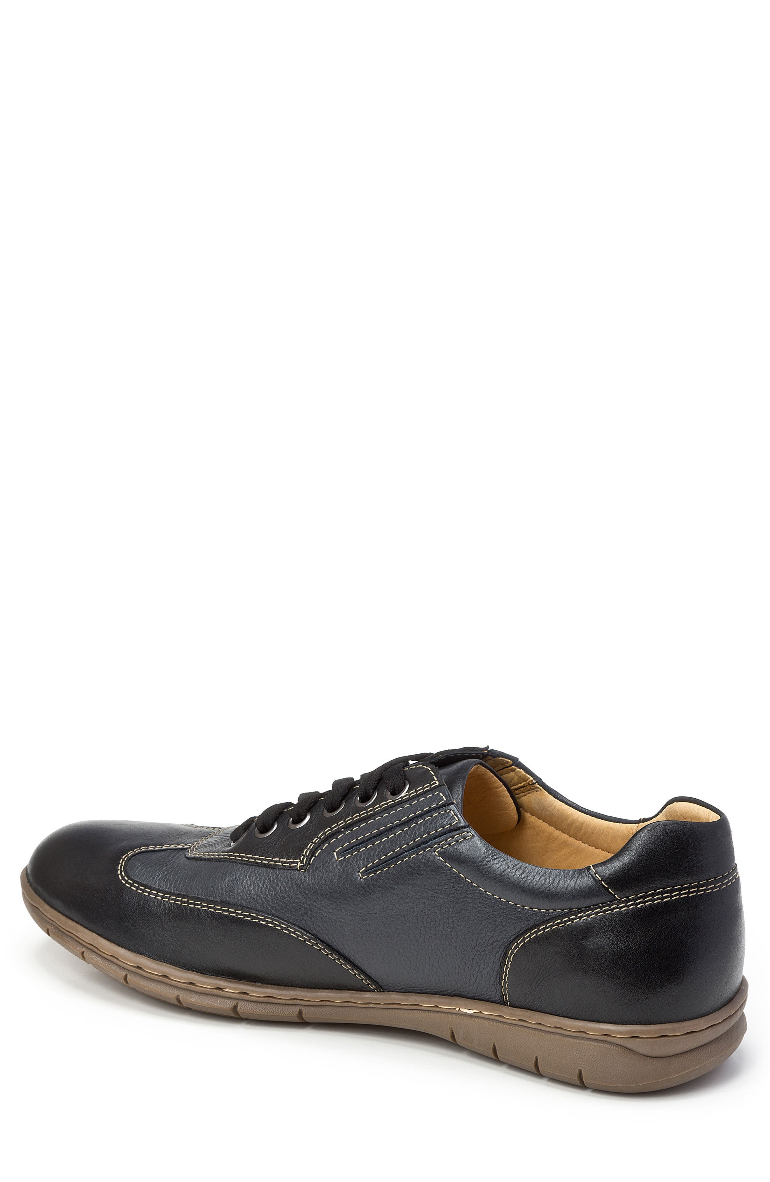 Vernon Sneaker,                             Alternate thumbnail 2, color,                             Black Leather
