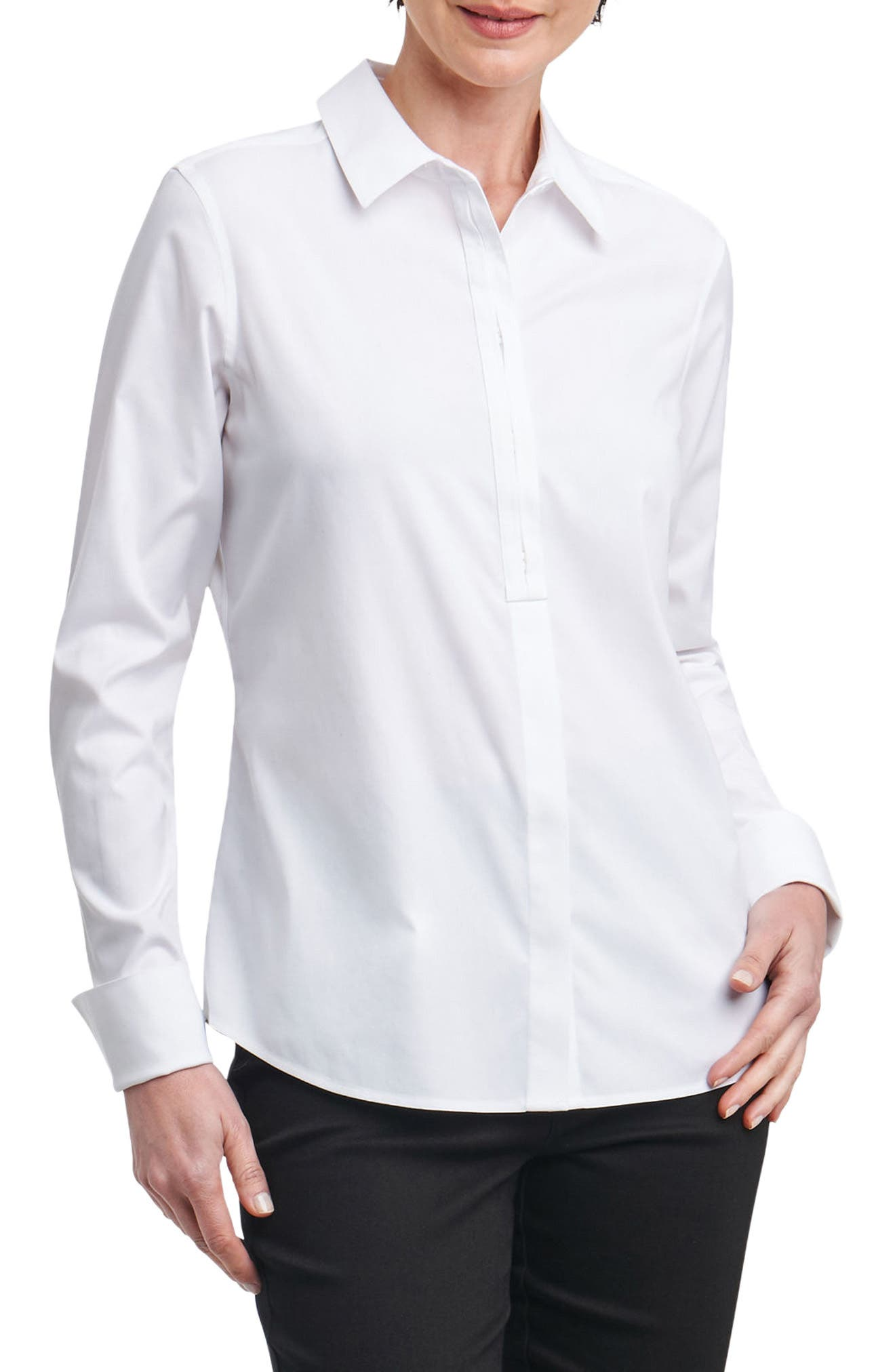 Foxcroft Elise Non-Iron Stretch Cotton Shirt