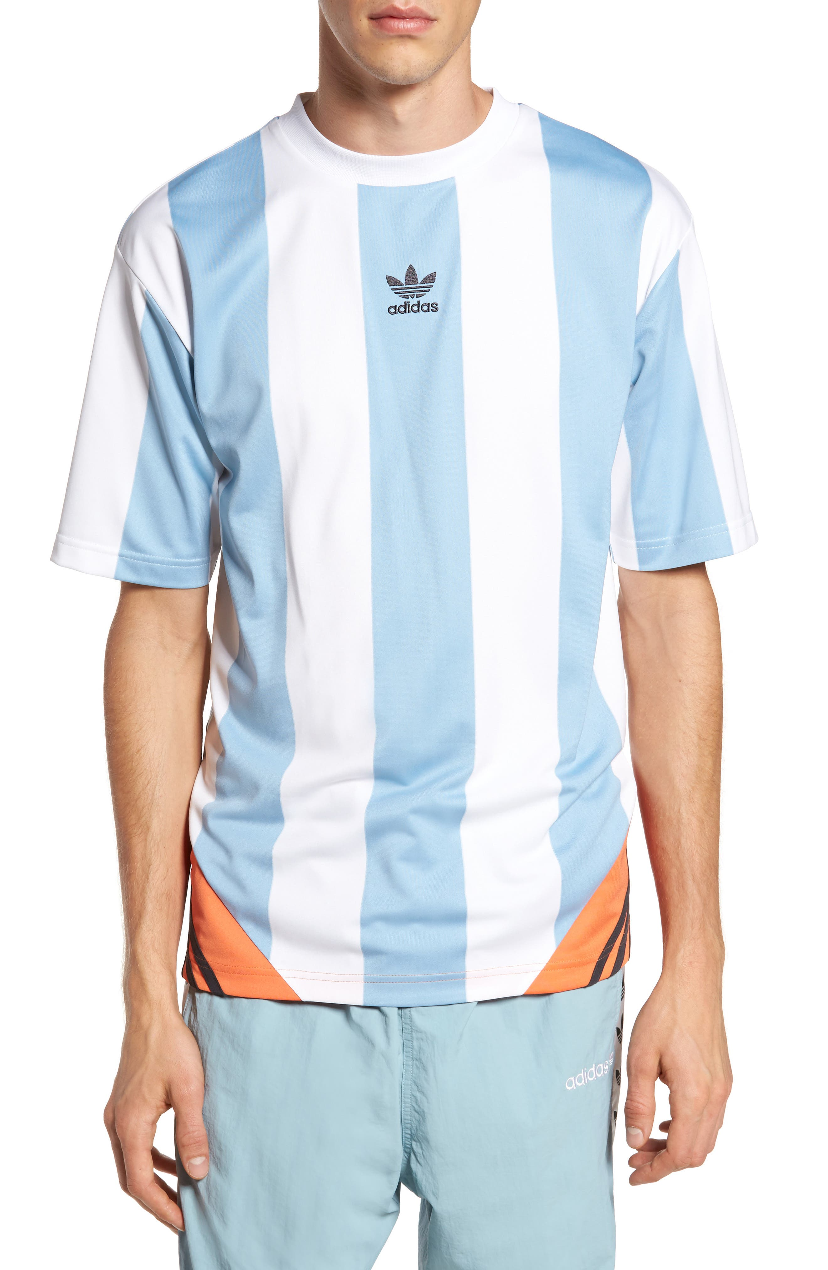 Originals Rival Goalie T-Shirt,                             Main thumbnail 1, color,                             Ash Grey/ White