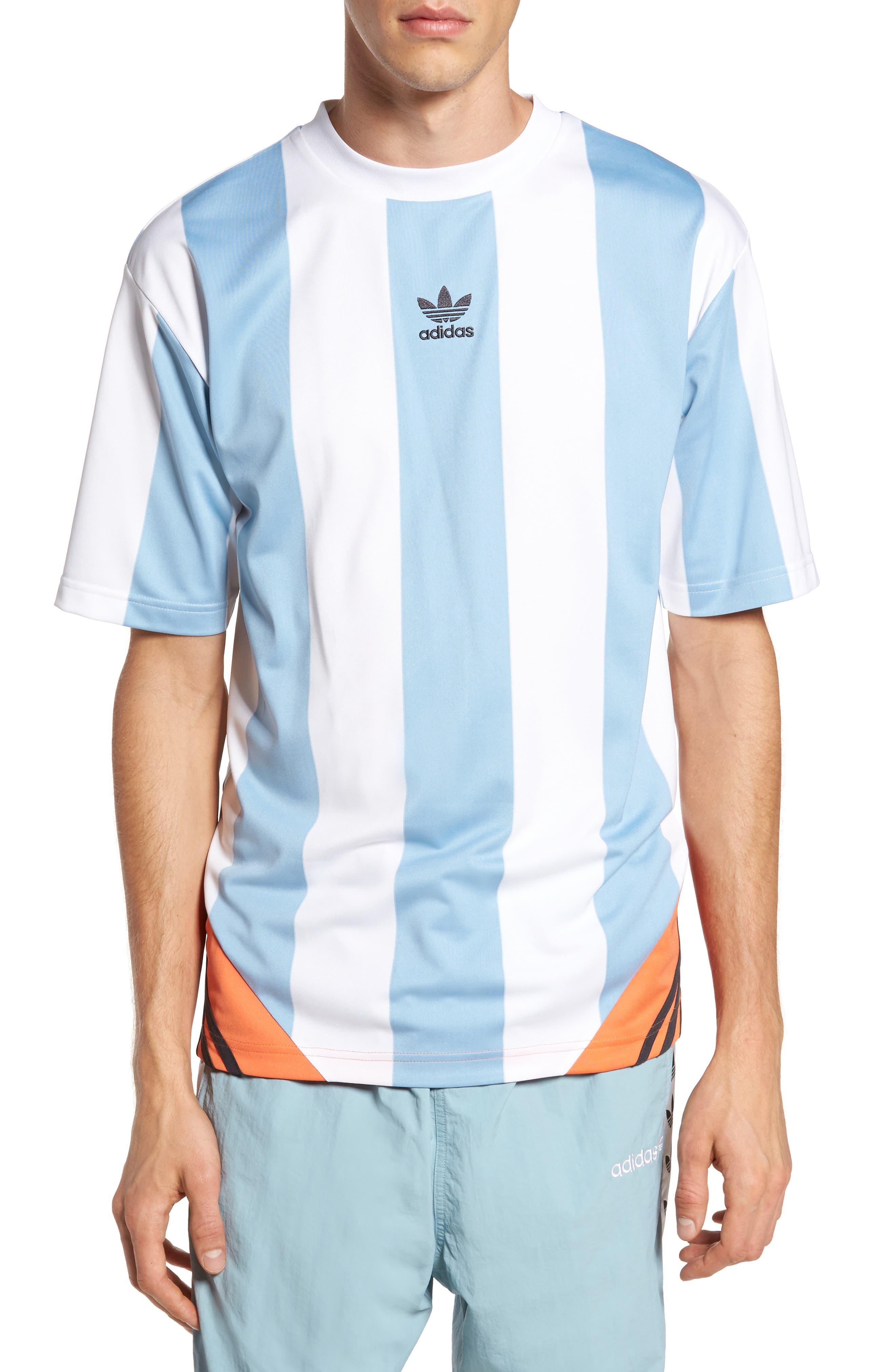 Originals Rival Goalie T-Shirt,                         Main,                         color, Ash Grey/ White