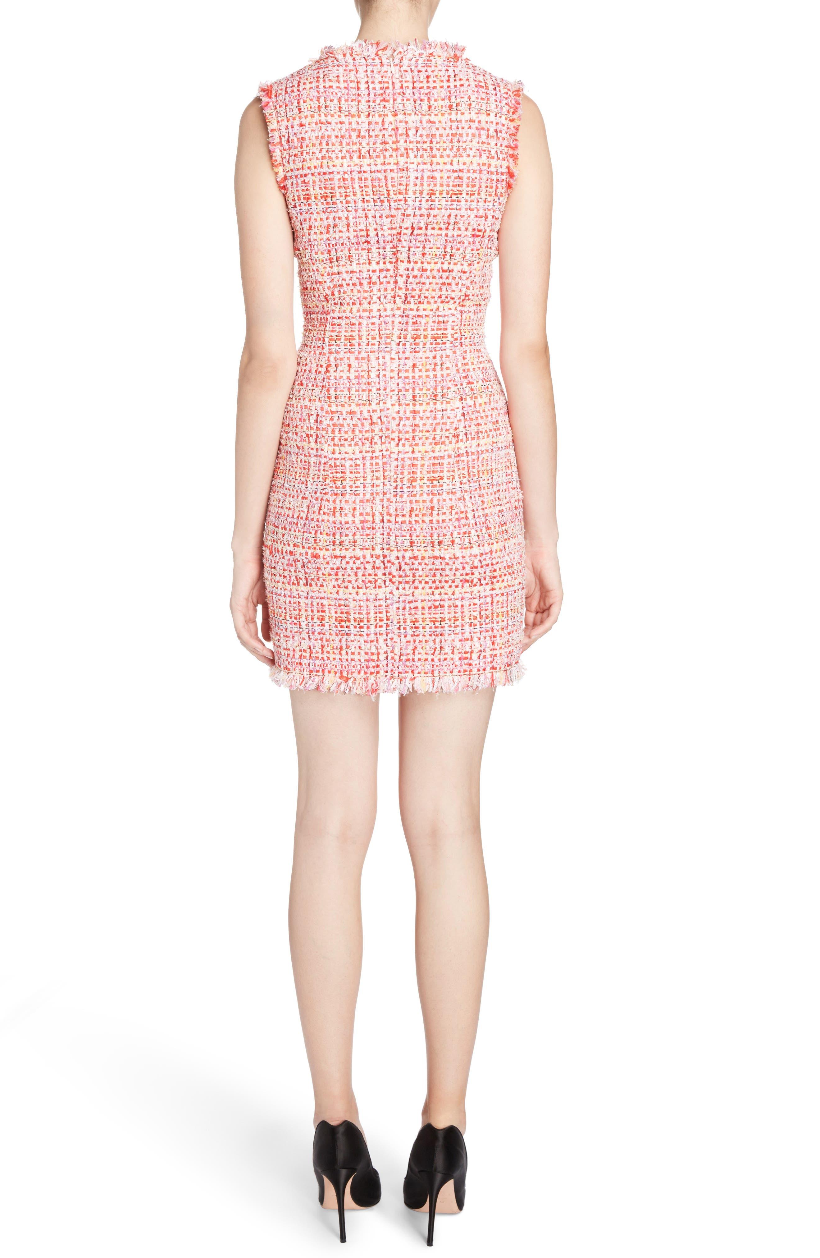 Ribbon Tweed Sheath Dress,                             Alternate thumbnail 2, color,                             Mix