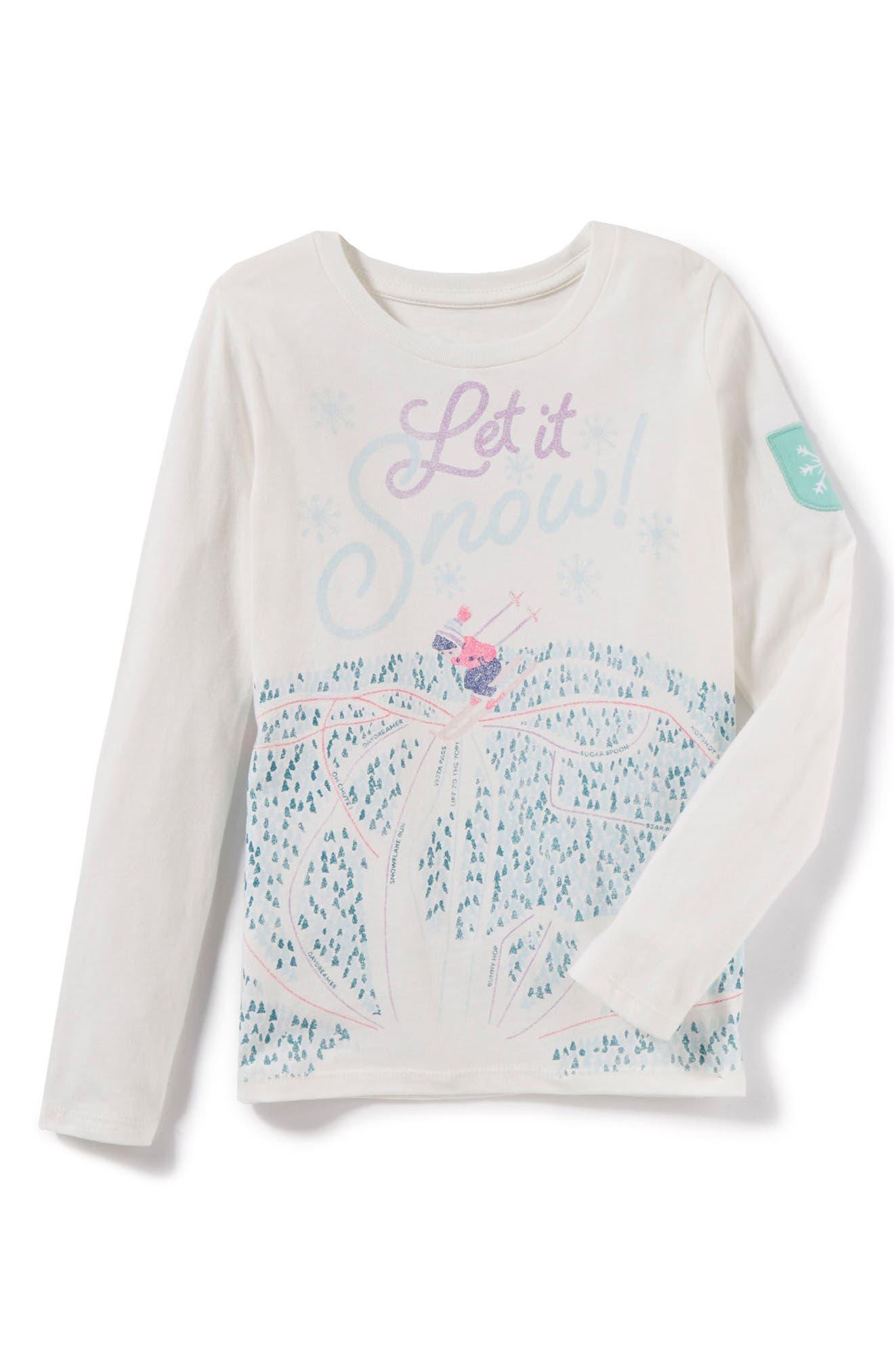 Main Image - Peek Let it Snow Tee (Toddler Girls, Little Girls & Big Girls)