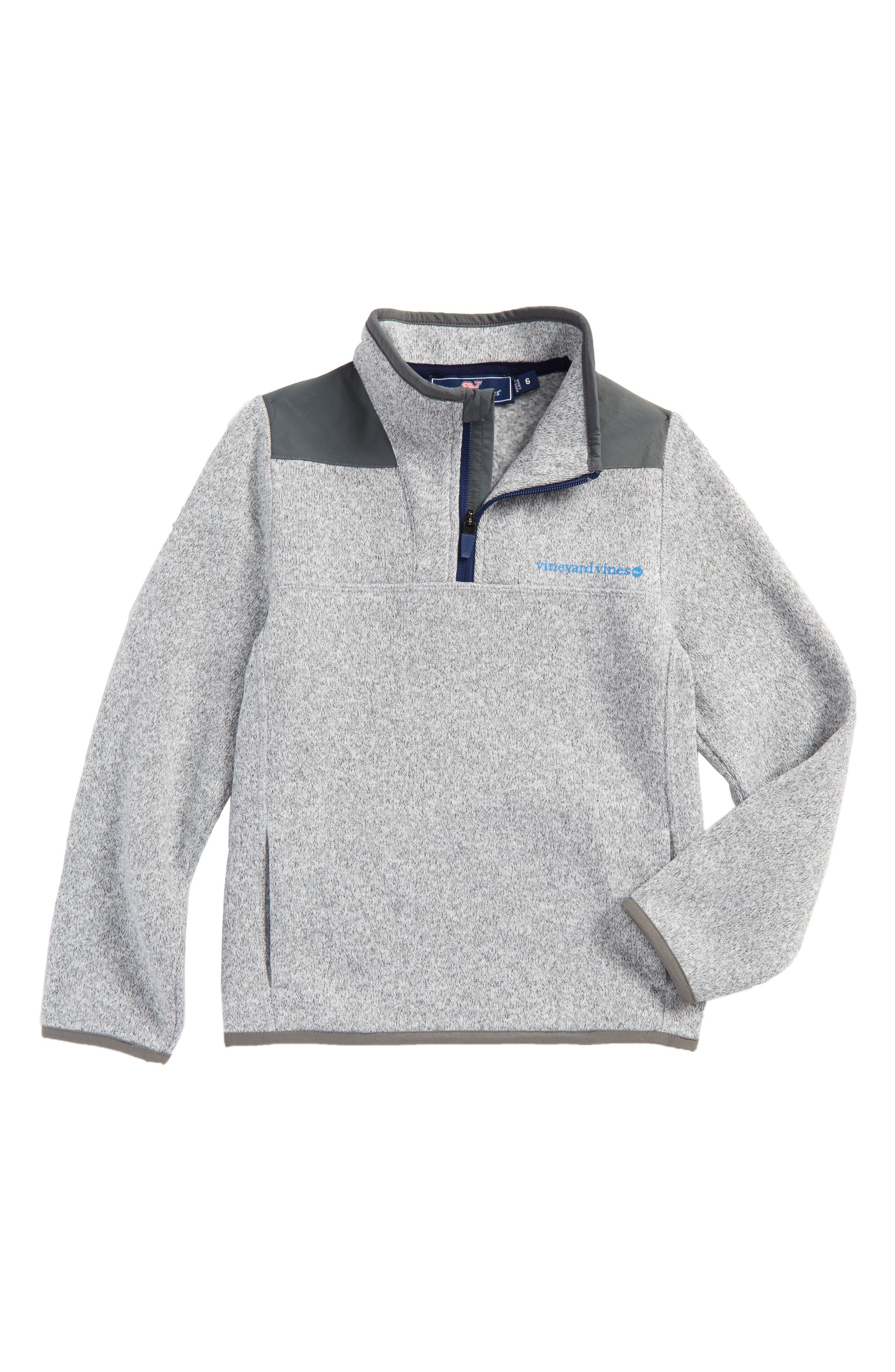 Quarter Zip Sweater,                         Main,                         color, Gray Heather