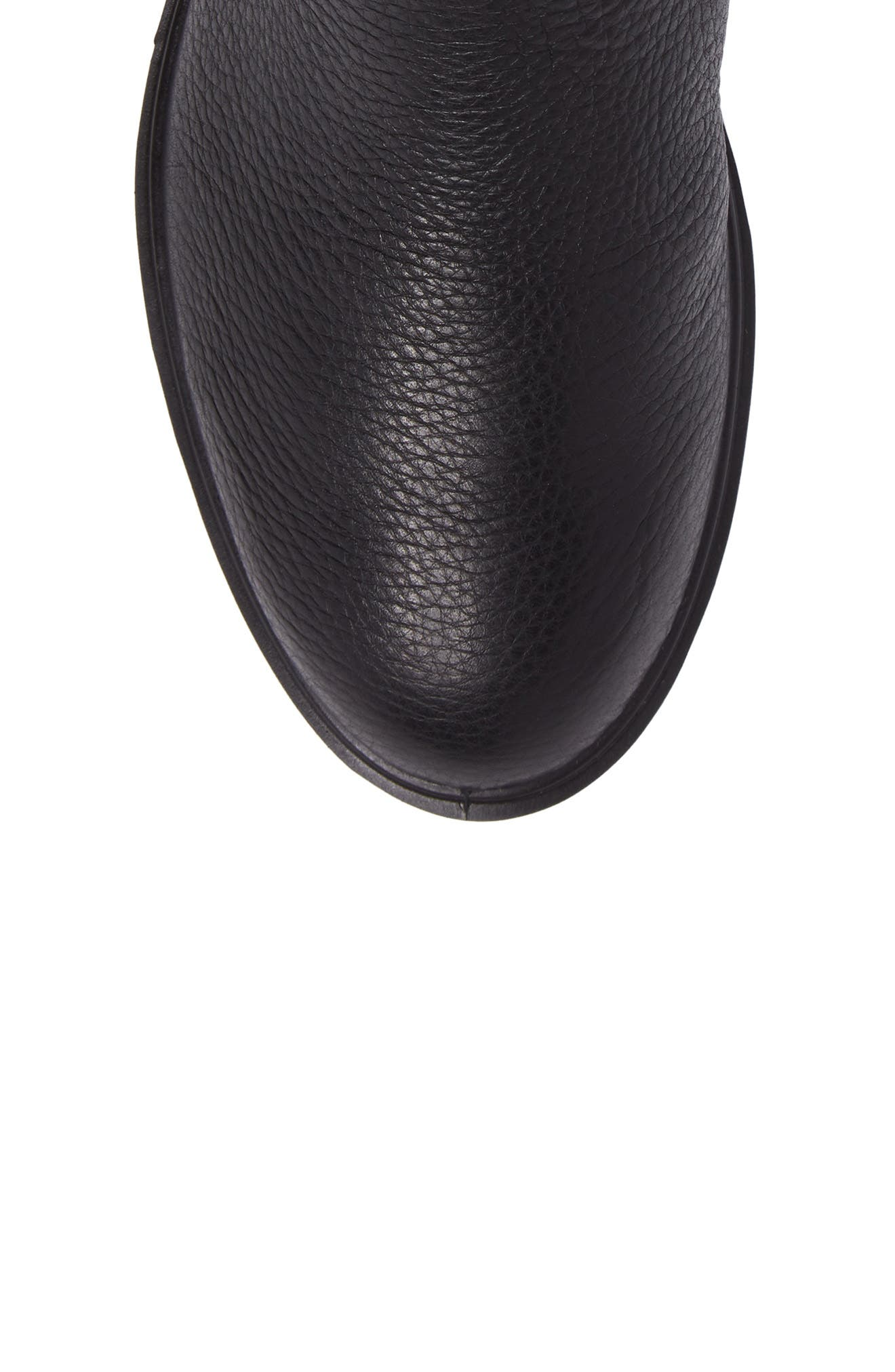 Zoe Mid Boot,                             Alternate thumbnail 5, color,                             Black Leather