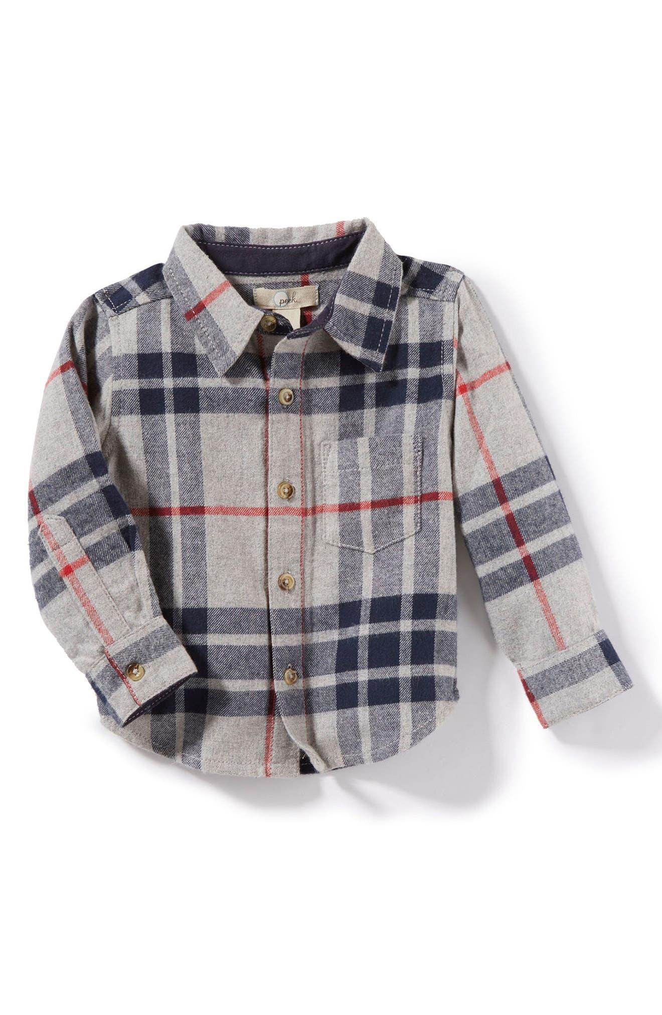 Peek Jasper Plaid Flannel Shirt (Baby Boys)