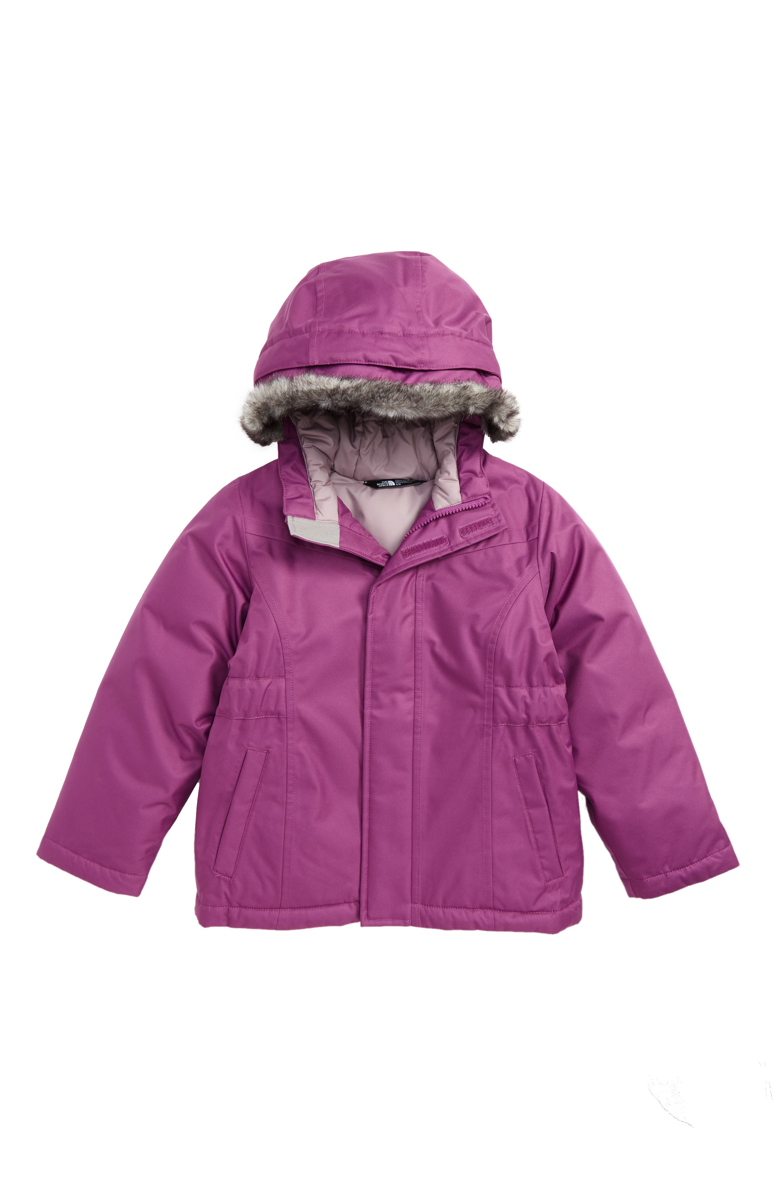 Main Image - The North Face Greenland Waterproof 550-Fill Down Jacket (Toddler Girls)
